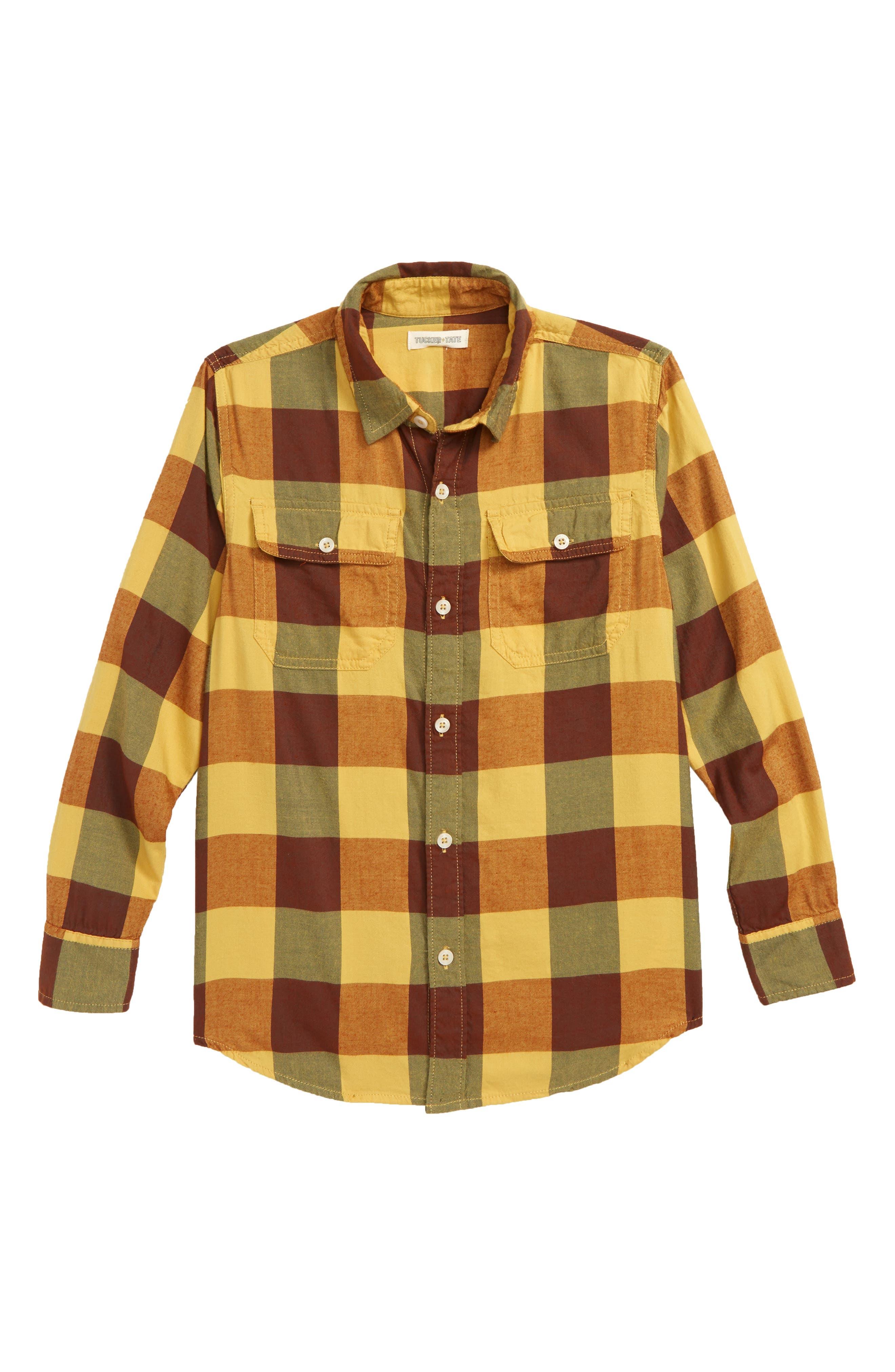 Plaid Flannel Shirt,                         Main,                         color, 701
