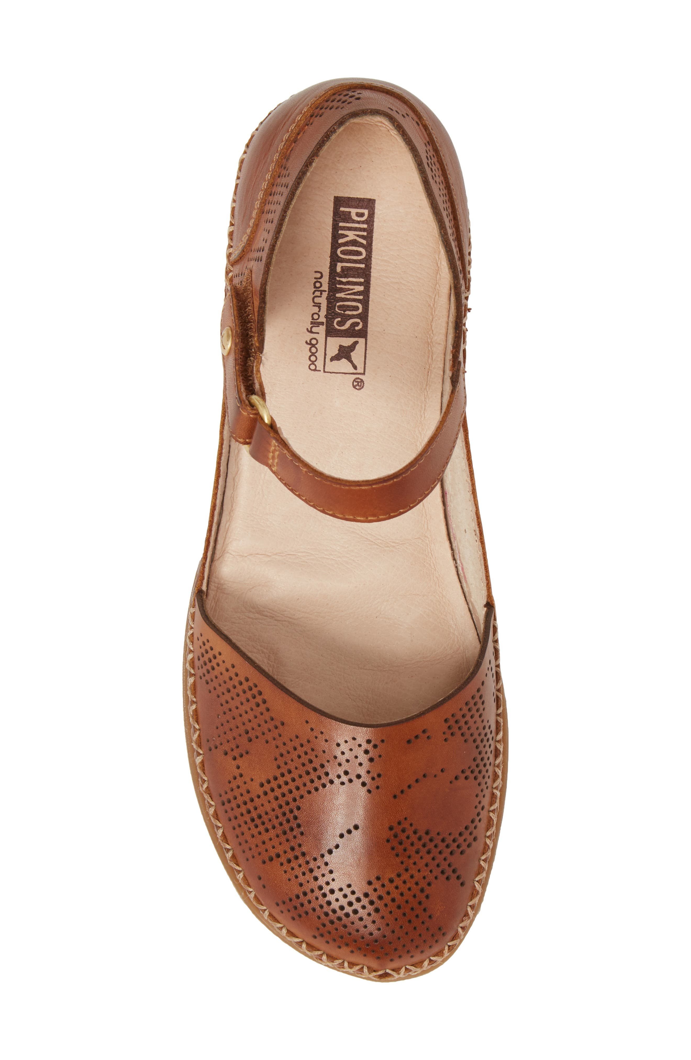 Cadaques Flat,                             Alternate thumbnail 5, color,                             BRANDY LEATHER