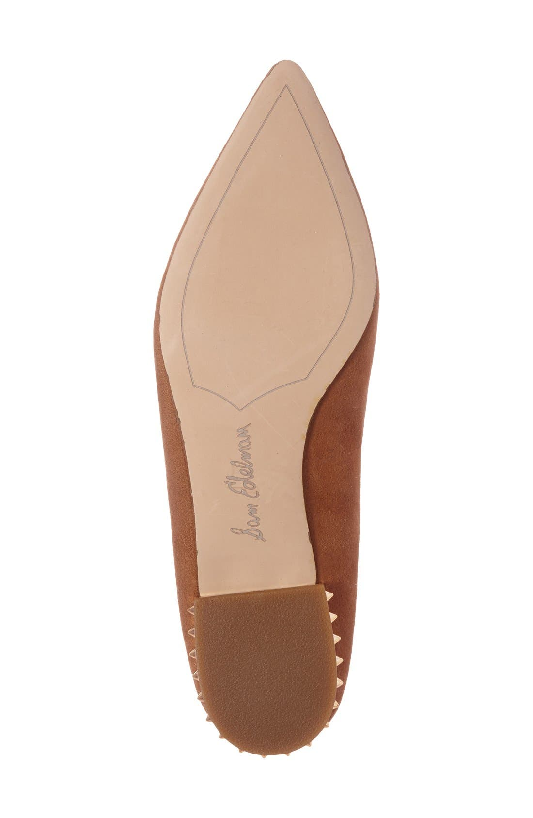 'Reyanne' Spike Rand Pointy Toe Flat,                             Alternate thumbnail 18, color,