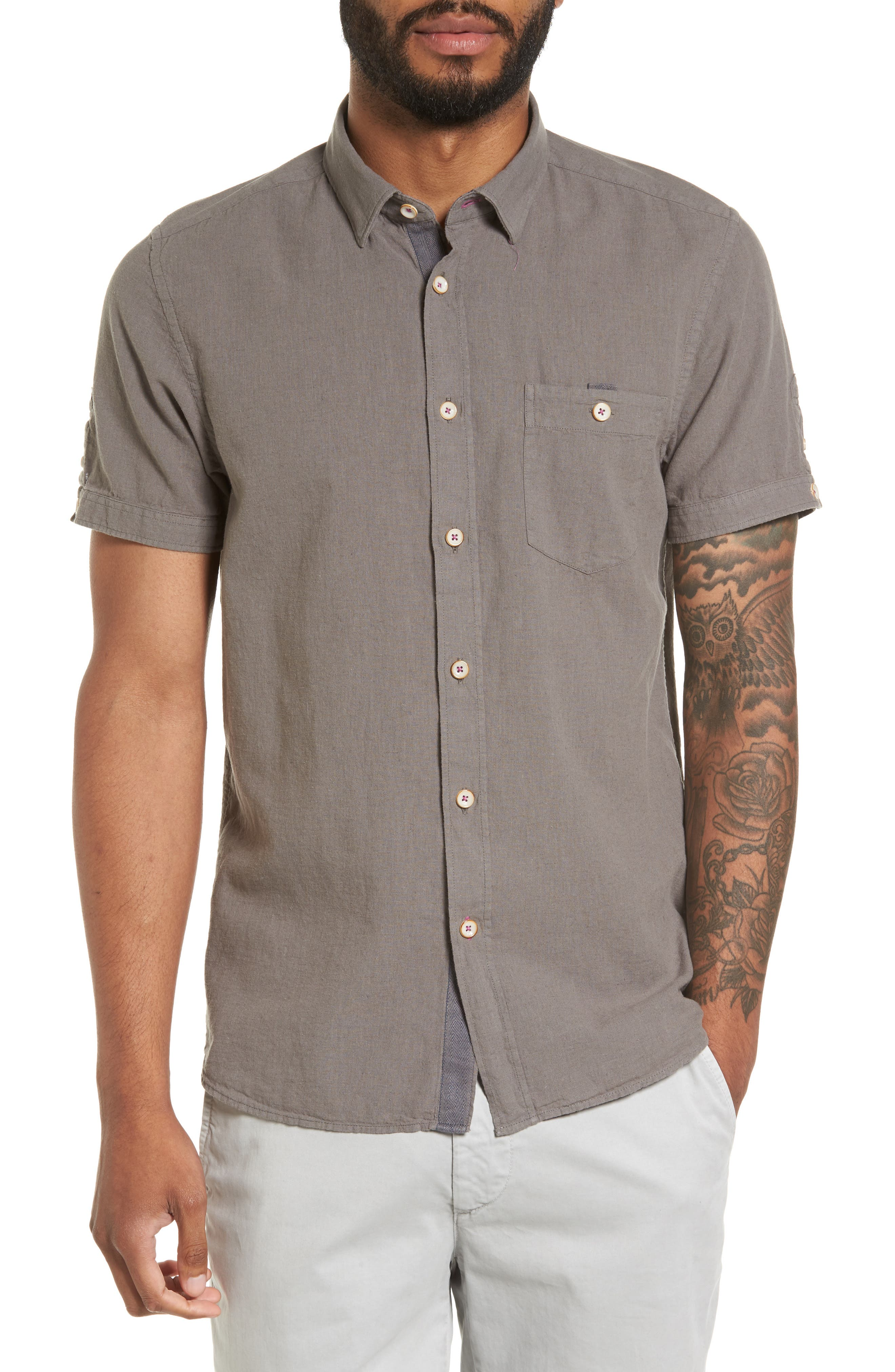 Shrwash Modern Slim Fit Sport Shirt,                         Main,                         color, 030