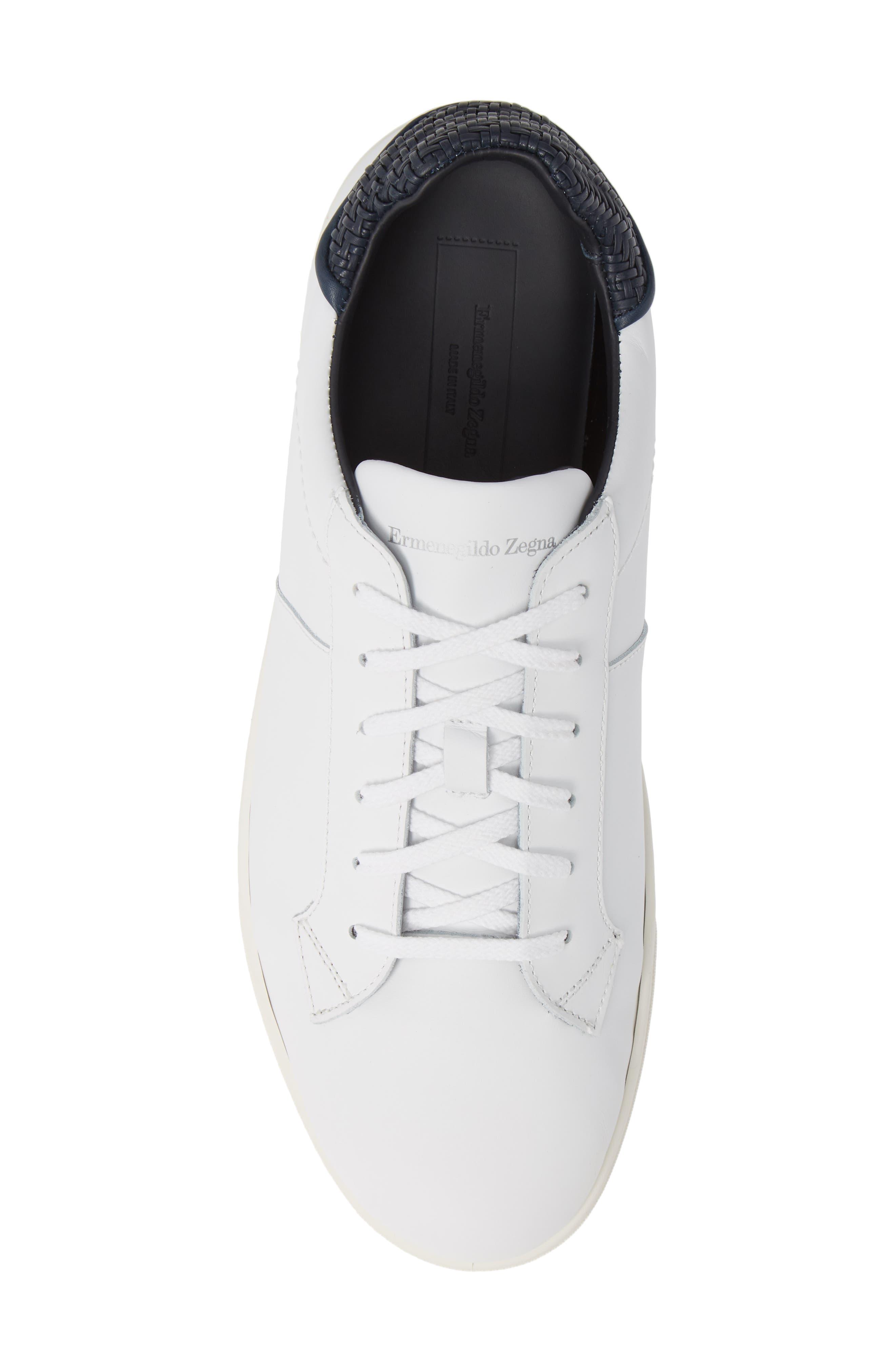 Sneaker,                             Alternate thumbnail 5, color,                             WHITE/ BLUE