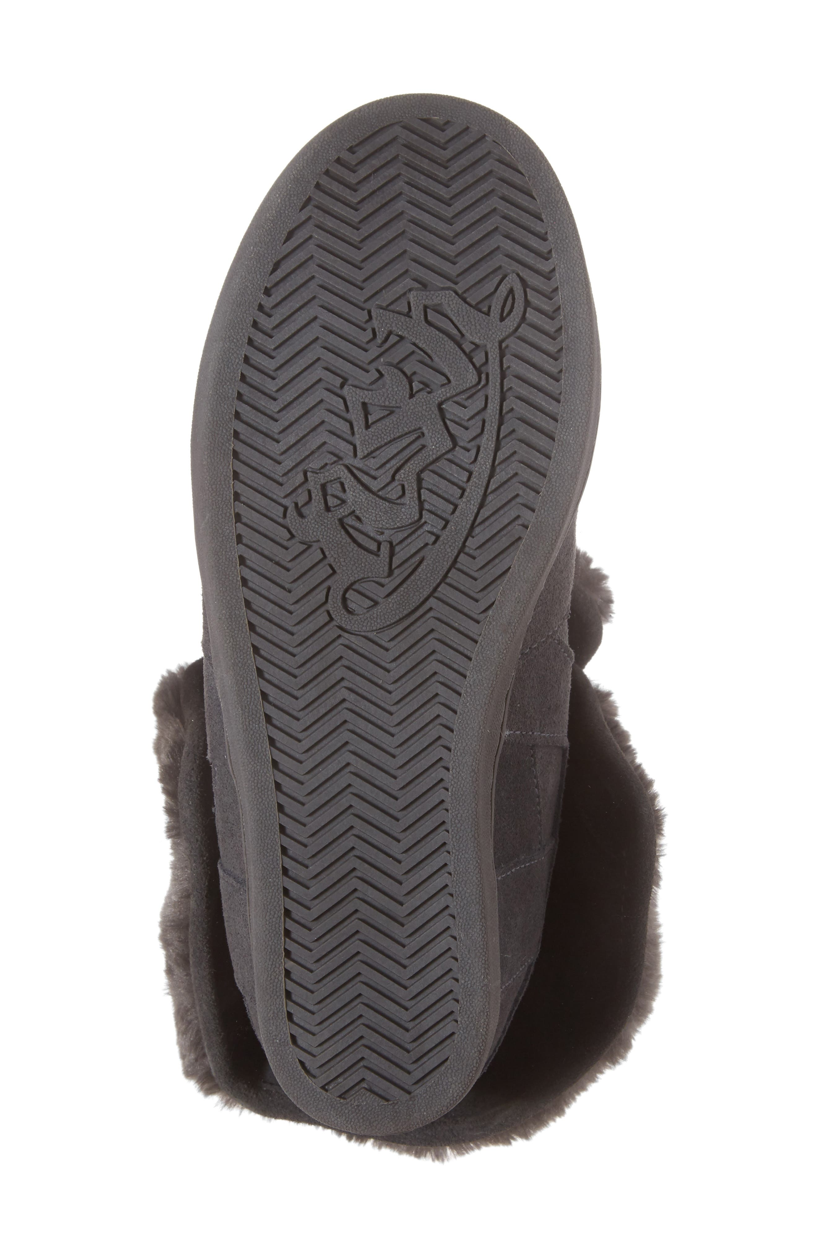 Boogie Beaver Faux Fur Cuffed Bootie,                             Alternate thumbnail 6, color,                             052