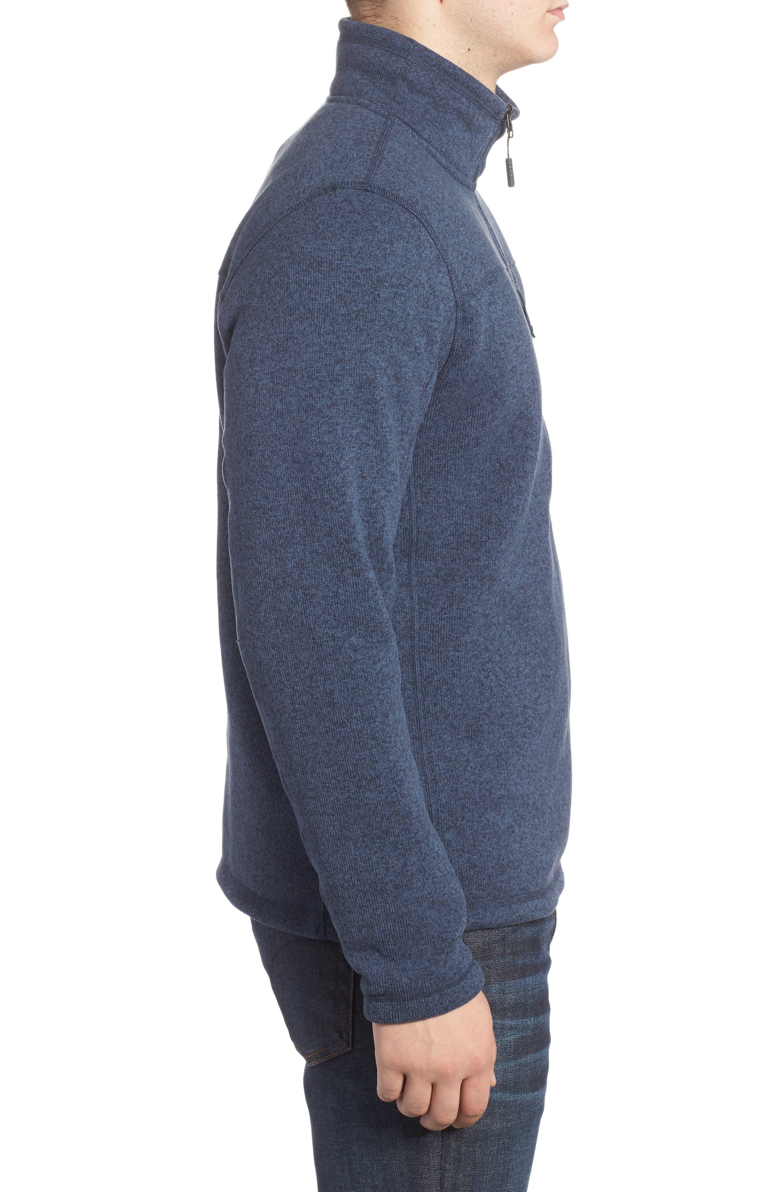 Gordon Lyons Quarter-Zip Fleece Jacket,                             Alternate thumbnail 3, color,                             URBAN NAVY HEATHER