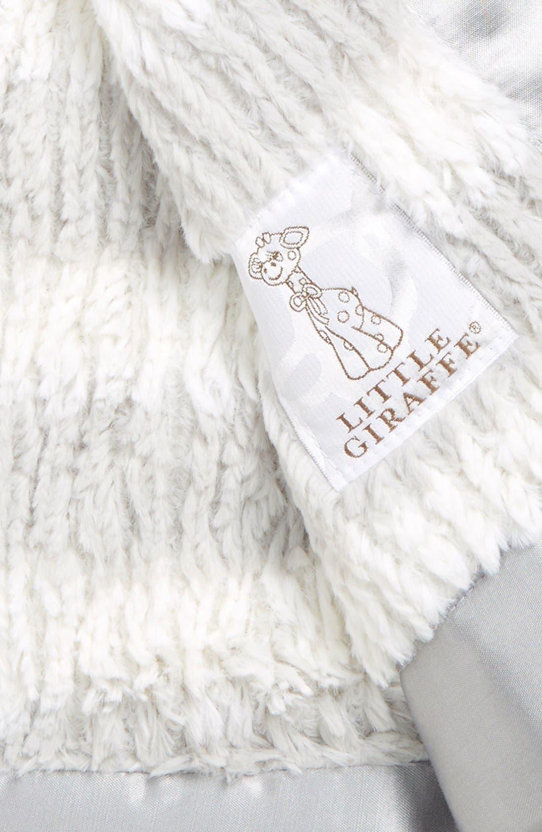 LITTLE GIRAFFE,                             'Luxe Rib Stripe<sup>™</sup>' Baby Blanket,                             Alternate thumbnail 2, color,                             SILVER