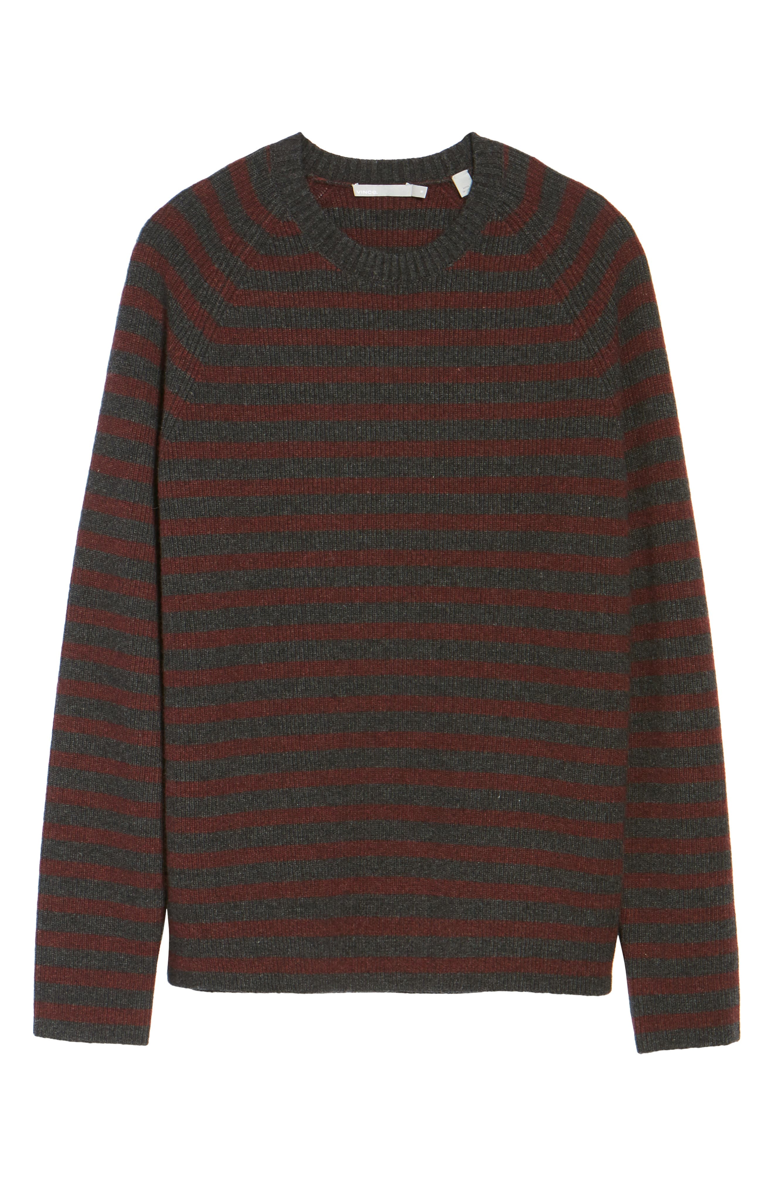 Stripe Wool & Cashmere Sweater,                             Alternate thumbnail 6, color,                             093