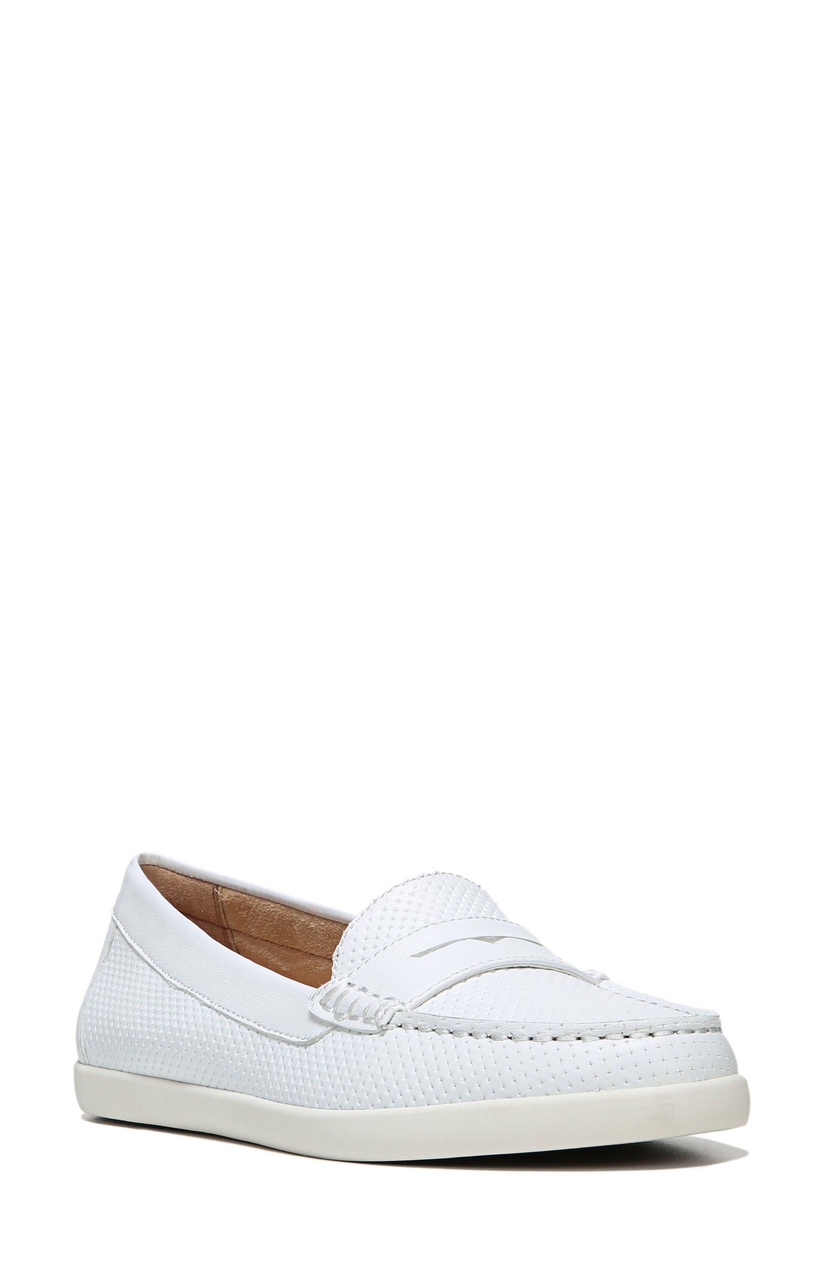 Gwen Slip-On Sneaker,                             Main thumbnail 1, color,                             WHITE LEATHER