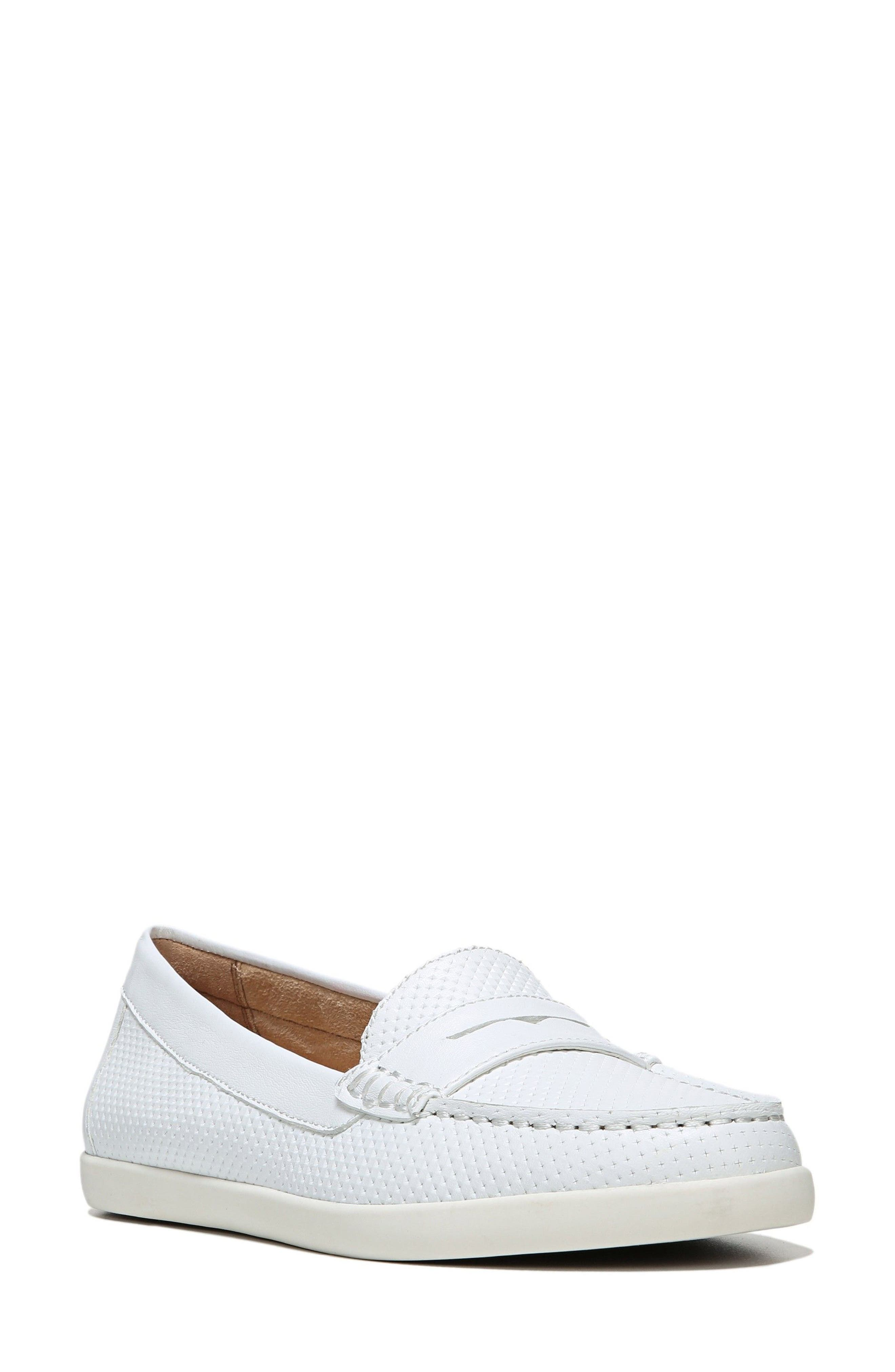 Gwen Slip-On Sneaker,                         Main,                         color, WHITE LEATHER