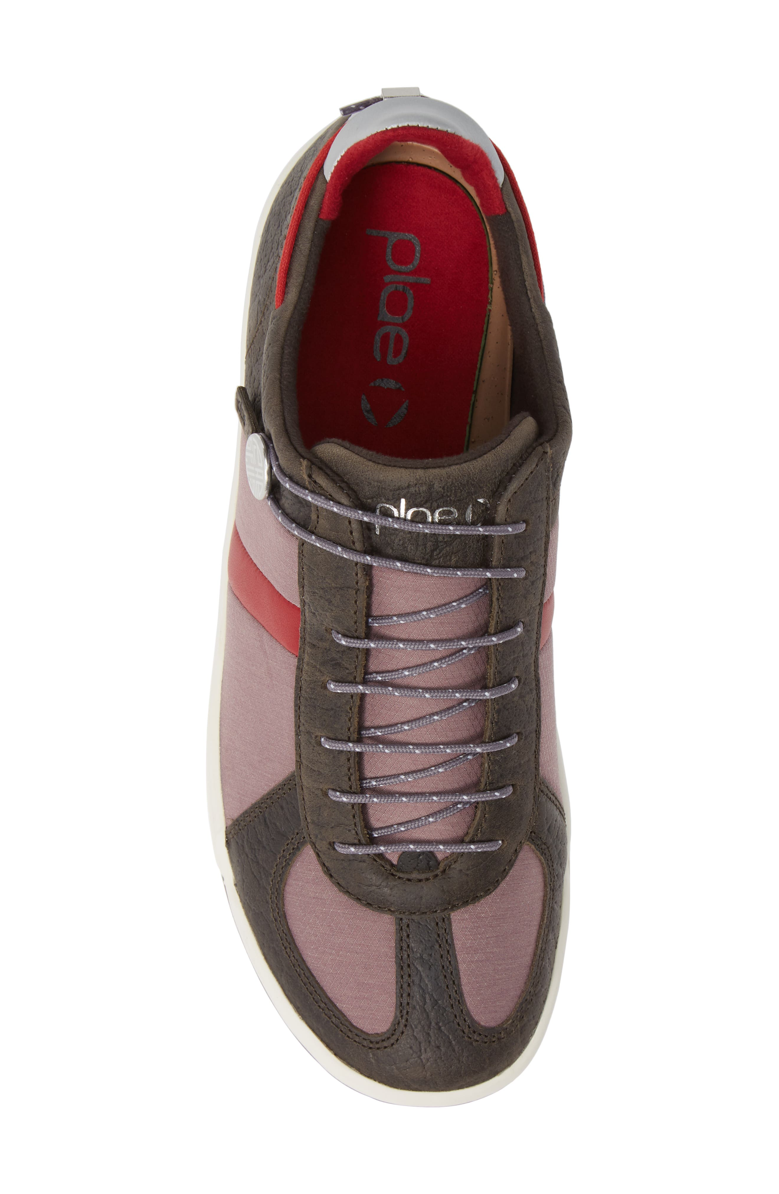 Butler Low-Top Sneaker,                             Alternate thumbnail 5, color,                             EMBER BROWN LEATHER