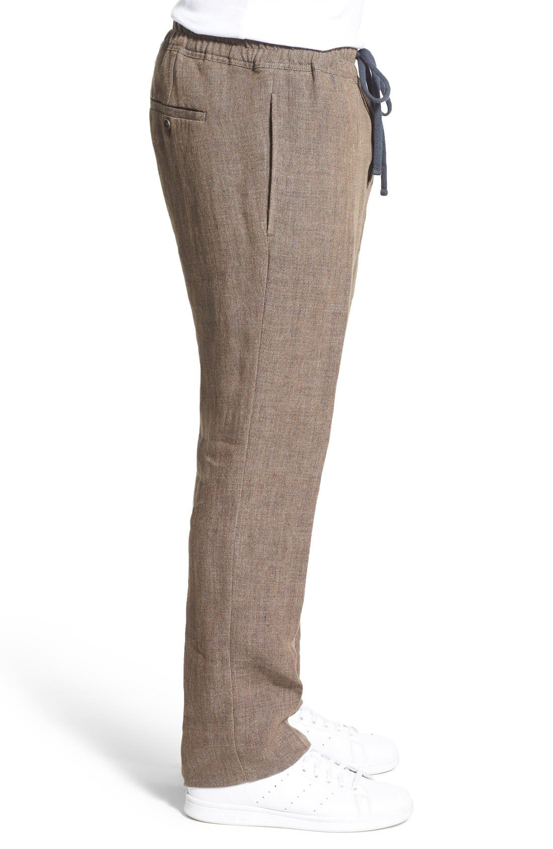 'Delave' Drawstring Linen Pants,                             Alternate thumbnail 3, color,                             207