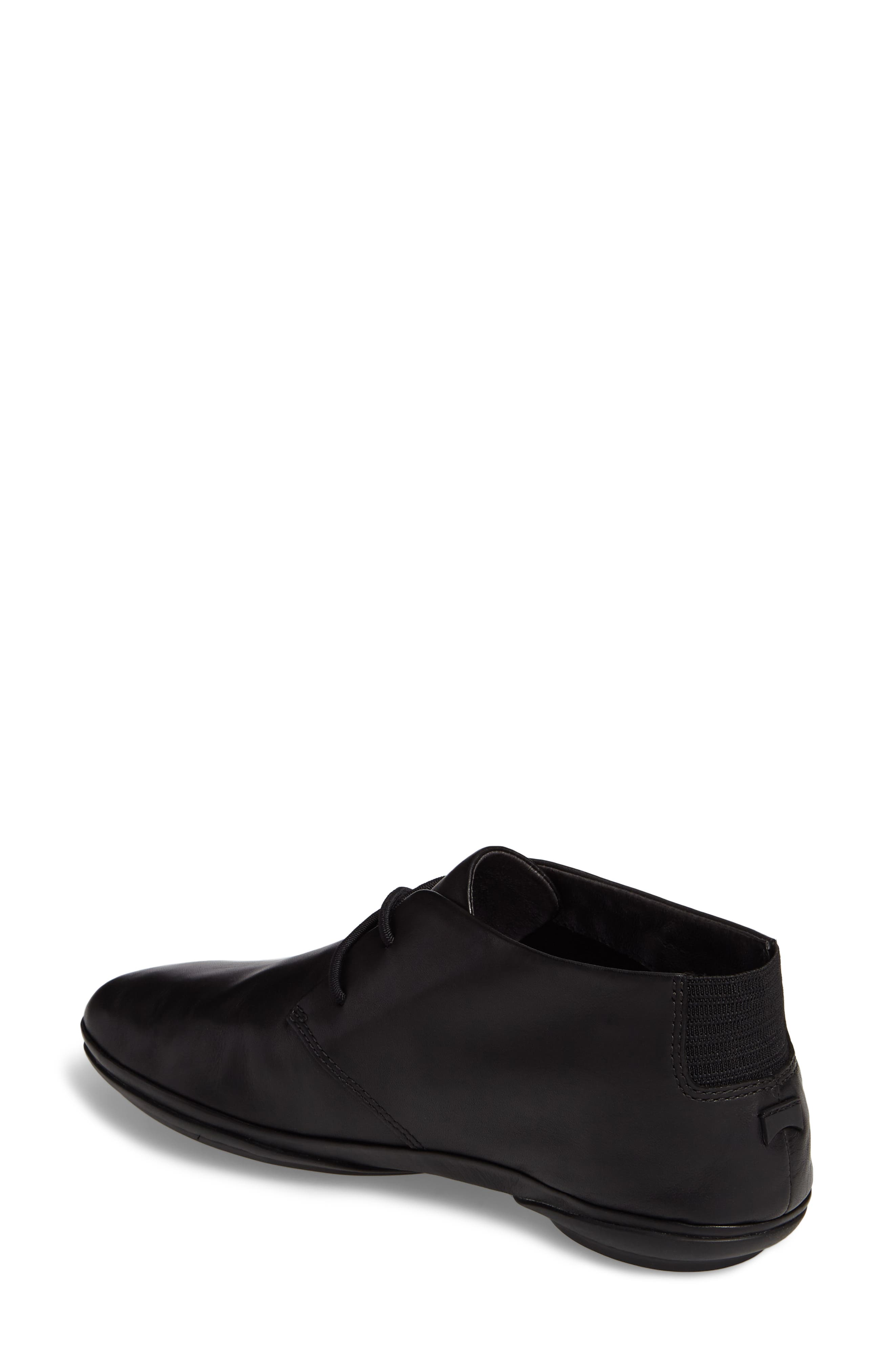 Right Nina Desert Shoe,                             Alternate thumbnail 2, color,                             BLACK LEATHER