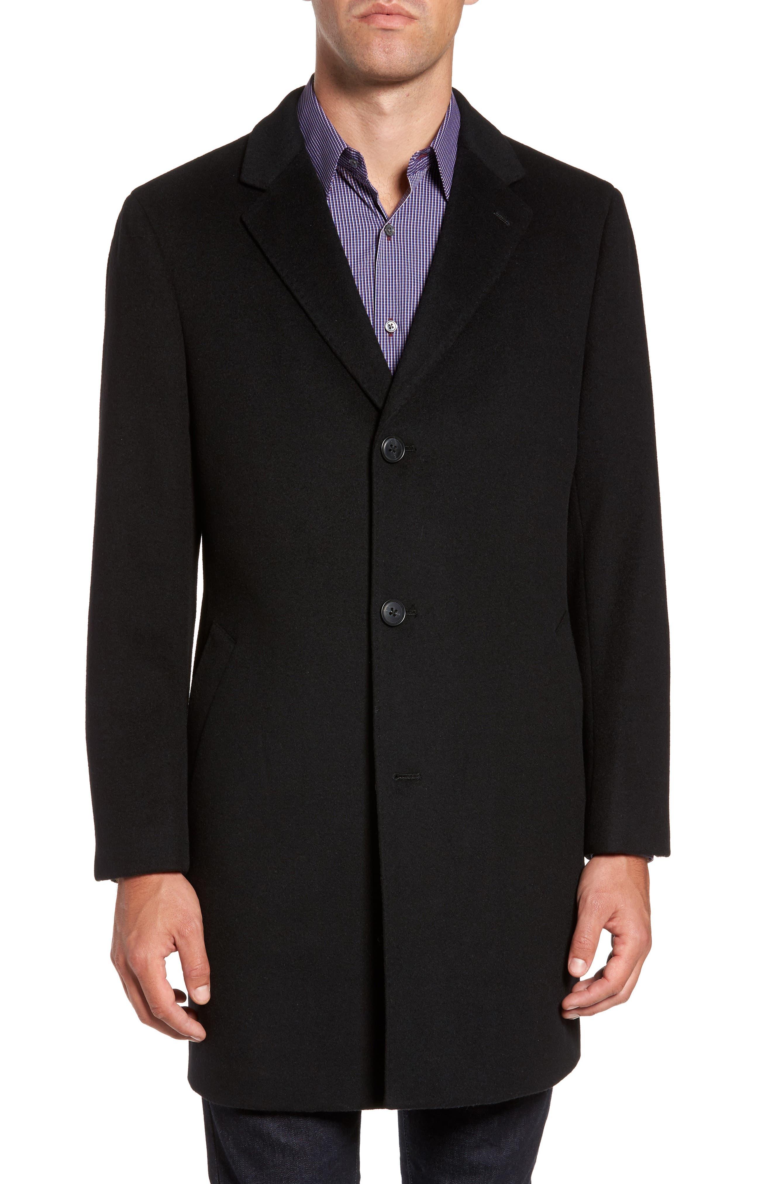 Mason Wool & Cashmere Overcoat,                             Alternate thumbnail 4, color,                             001