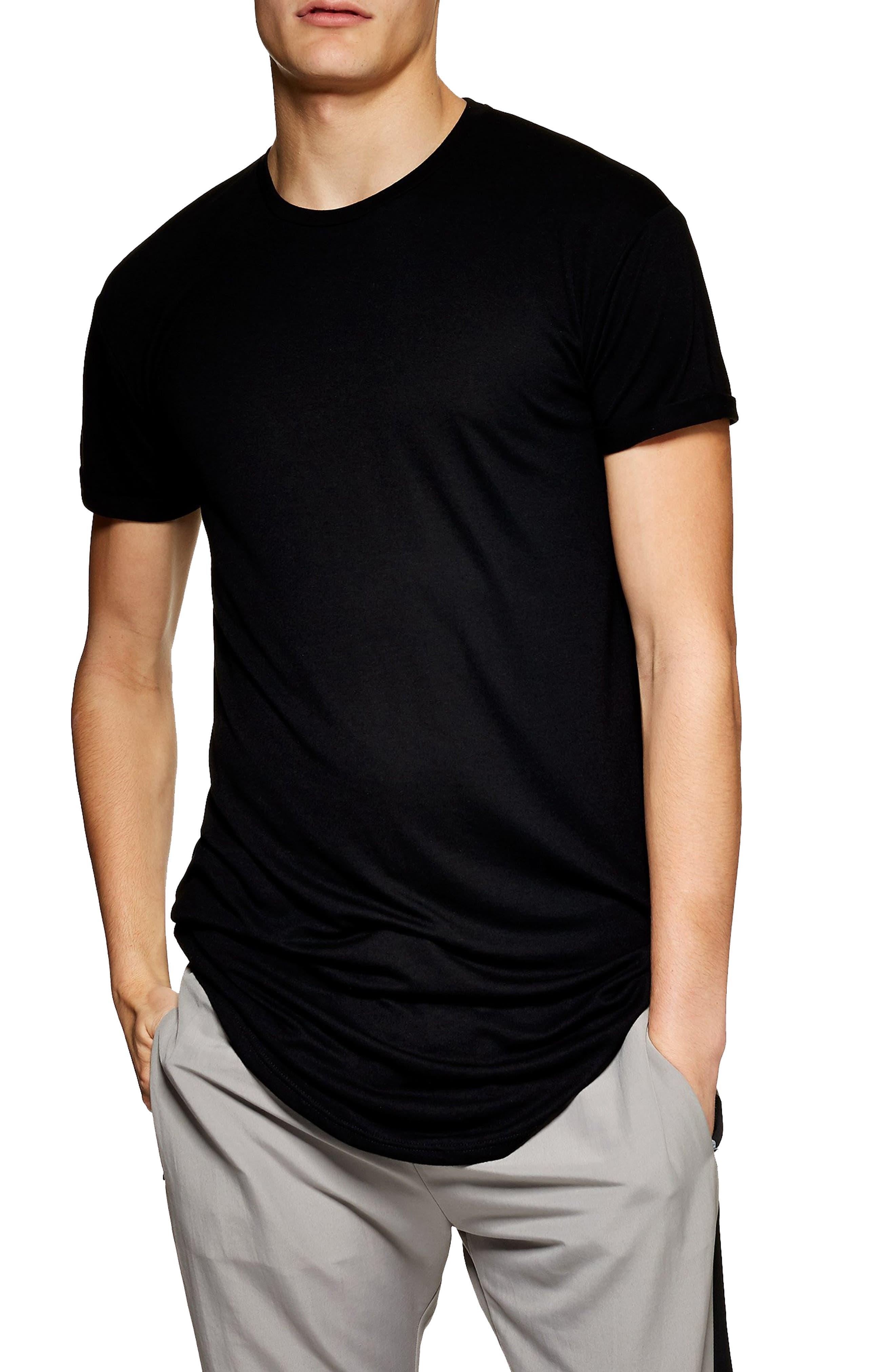 Scotty Longline T-Shirt,                         Main,                         color, BLACK