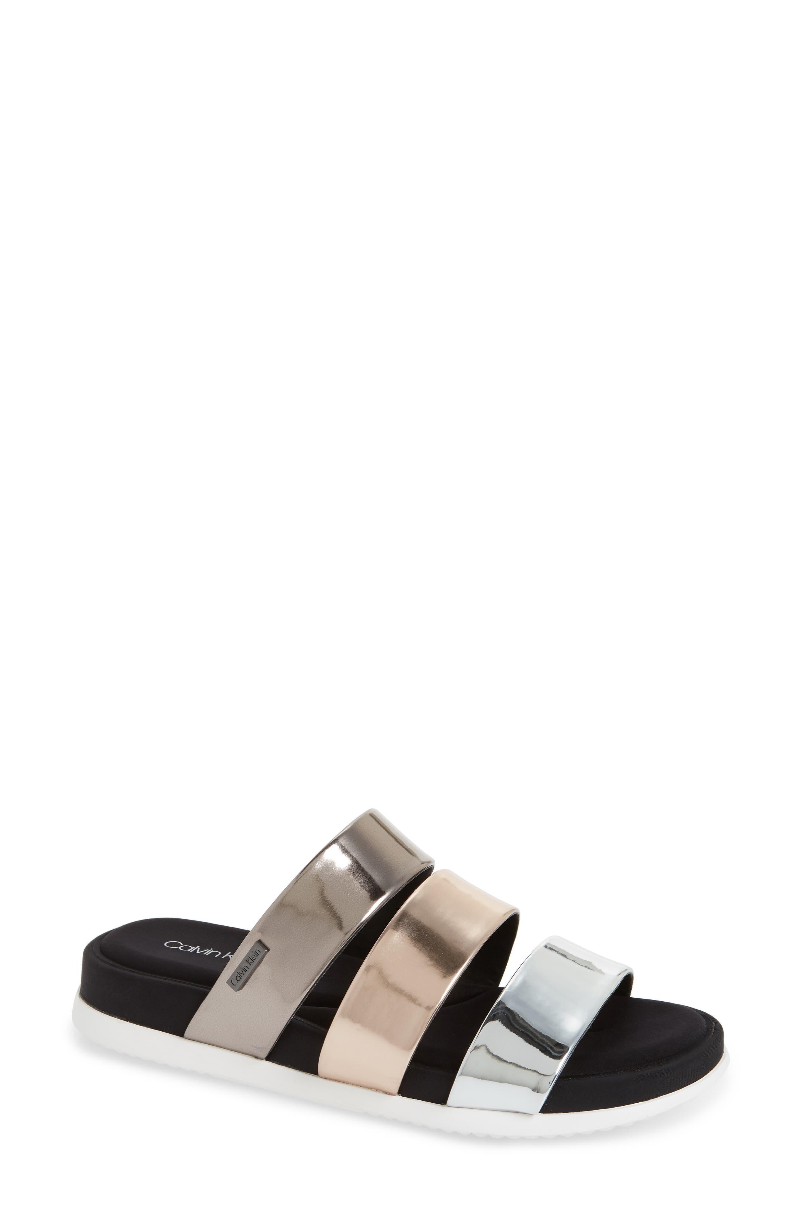 Dalana Slide Sandal,                             Main thumbnail 3, color,