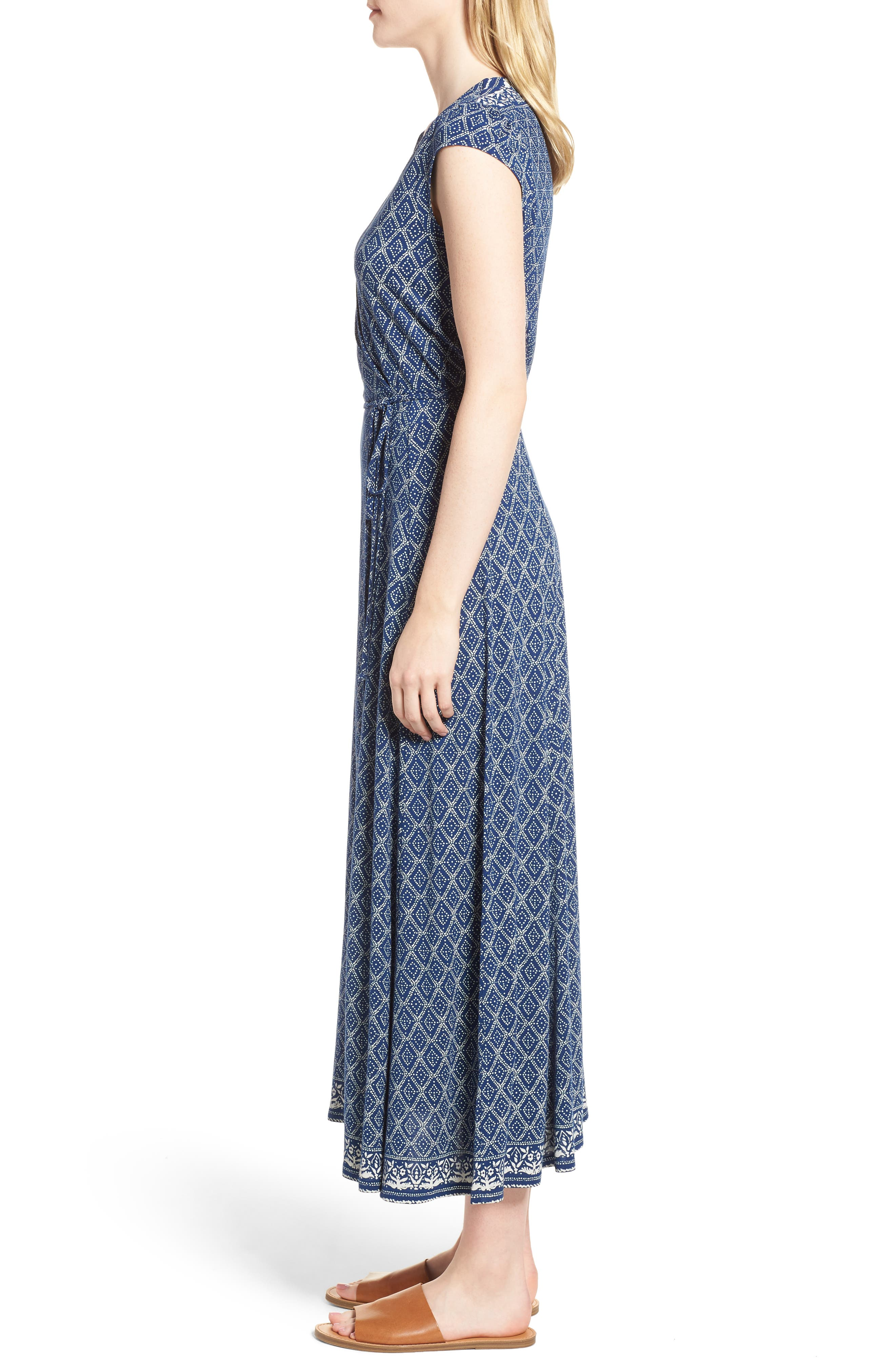 Lucky Border Print Maxi Dress,                             Alternate thumbnail 3, color,                             490