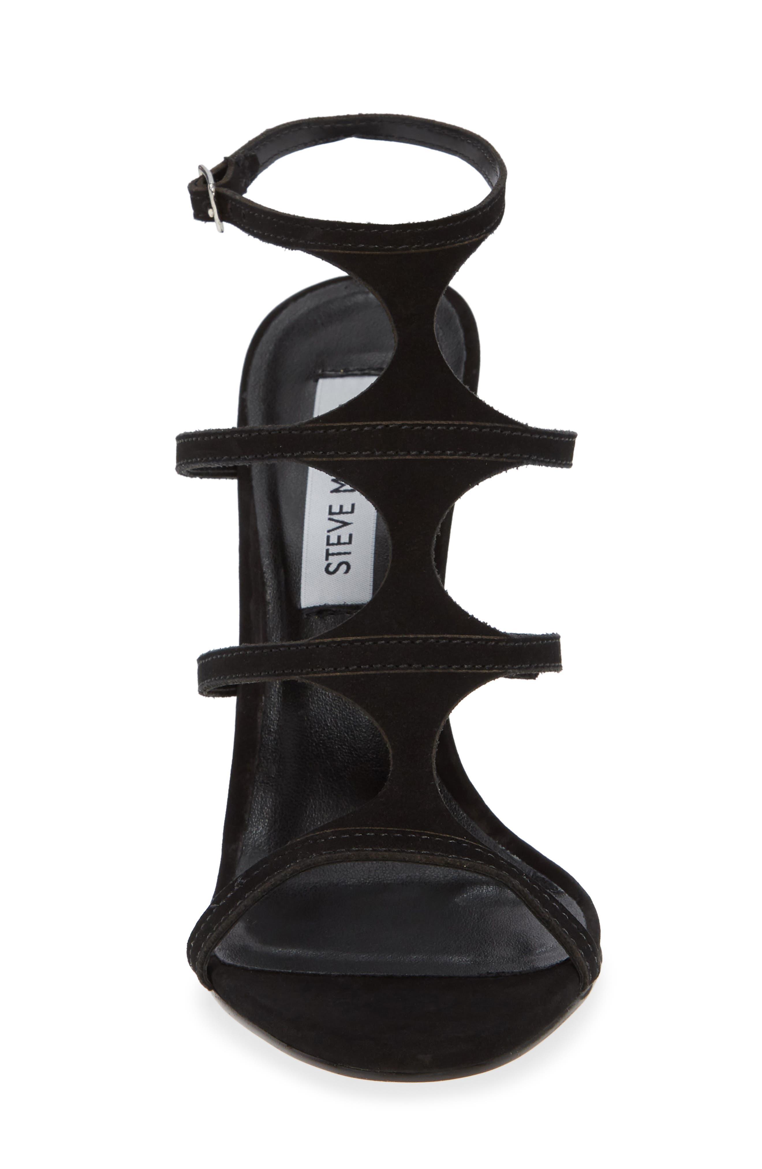 Sprung Sandal,                             Alternate thumbnail 4, color,                             BLACK NUBUCK