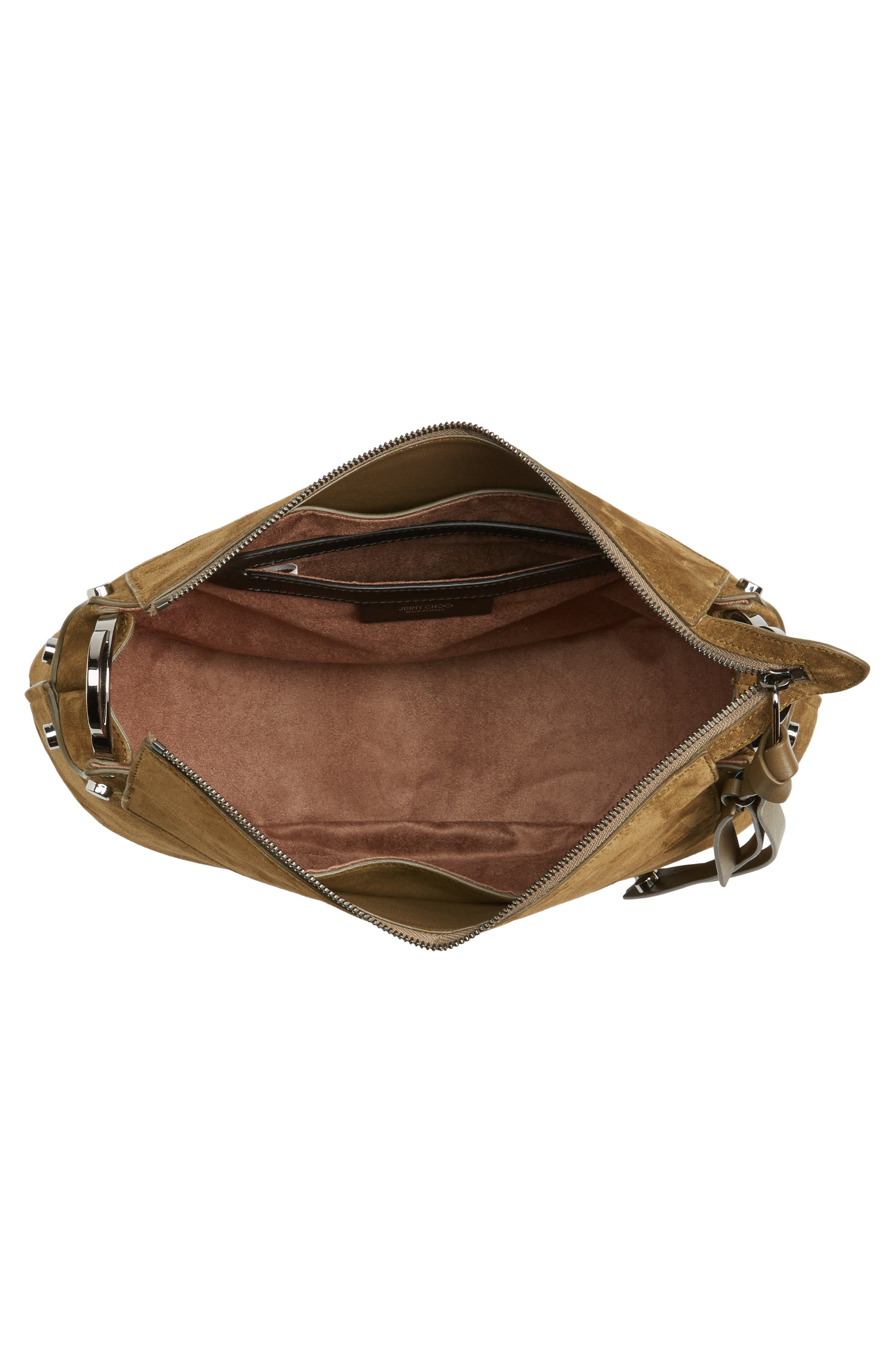 Artie Suede Hobo Bag,                             Alternate thumbnail 13, color,