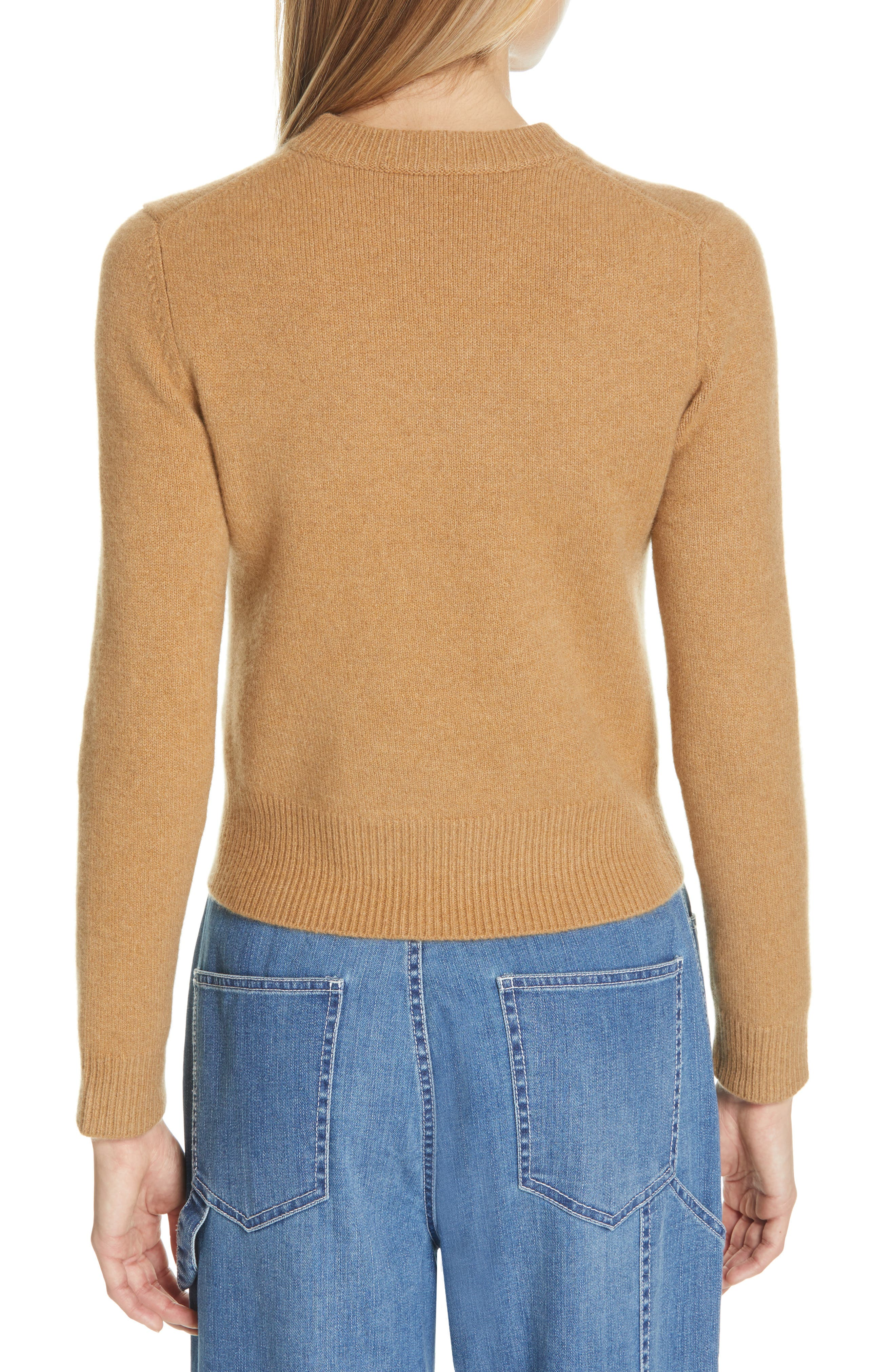 Stretch Cashmere Sweater,                             Alternate thumbnail 2, color,                             CARAMEL