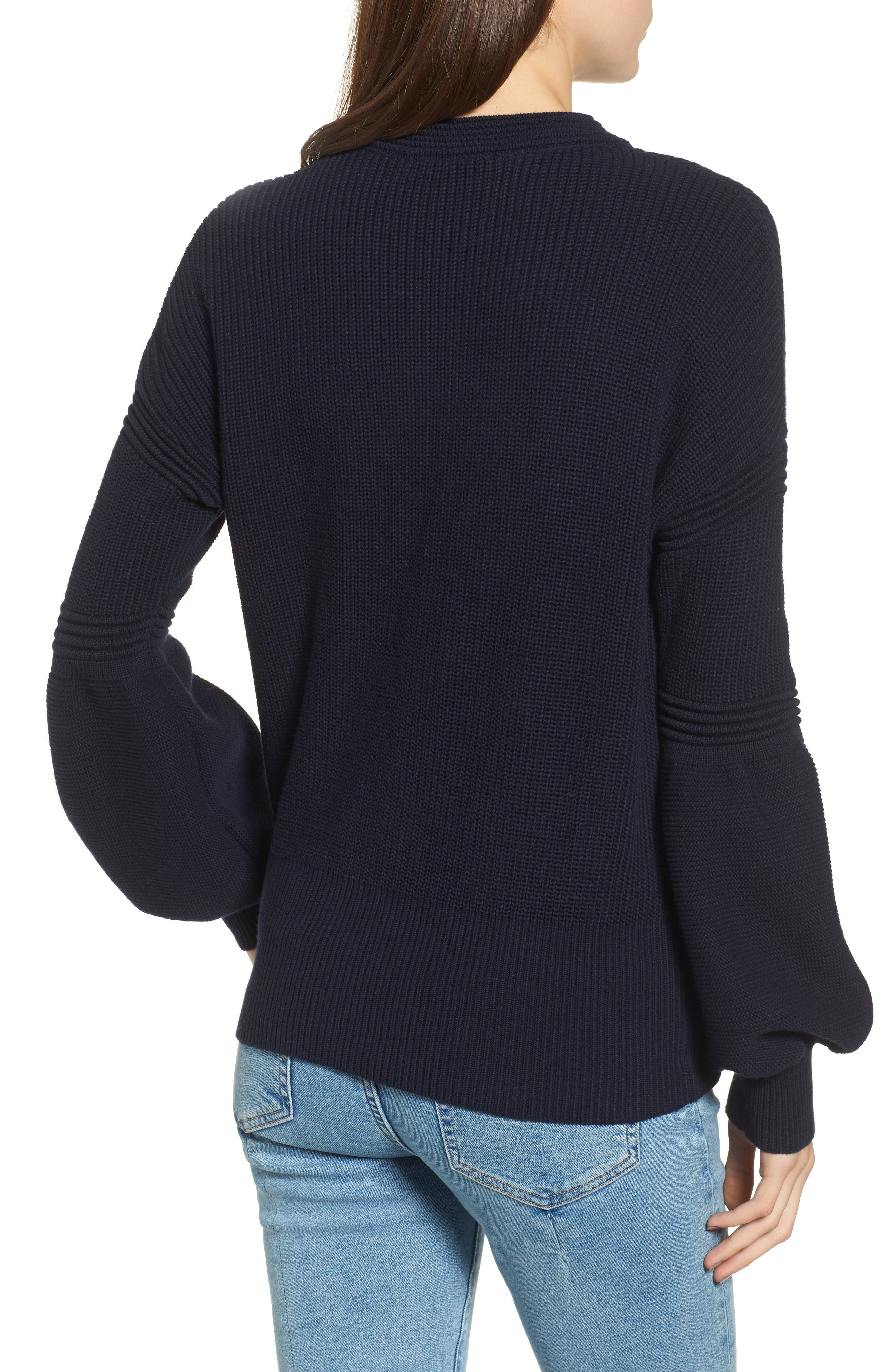 Sculpture Puff Sleeve Sweater,                             Alternate thumbnail 2, color,                             410