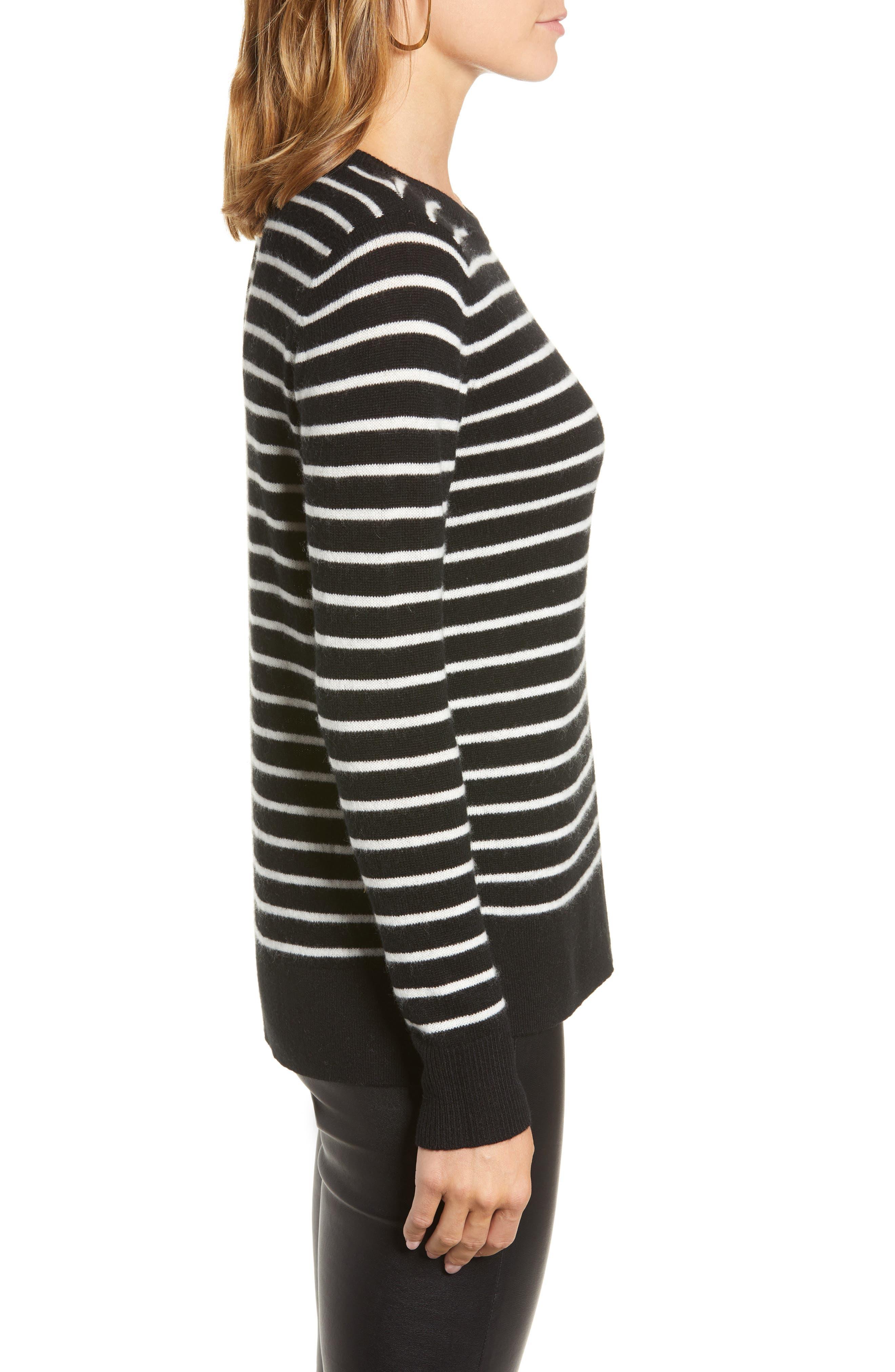 HALOGEN<SUP>®</SUP>,                             Crewneck Cashmere Sweater,                             Alternate thumbnail 3, color,                             002
