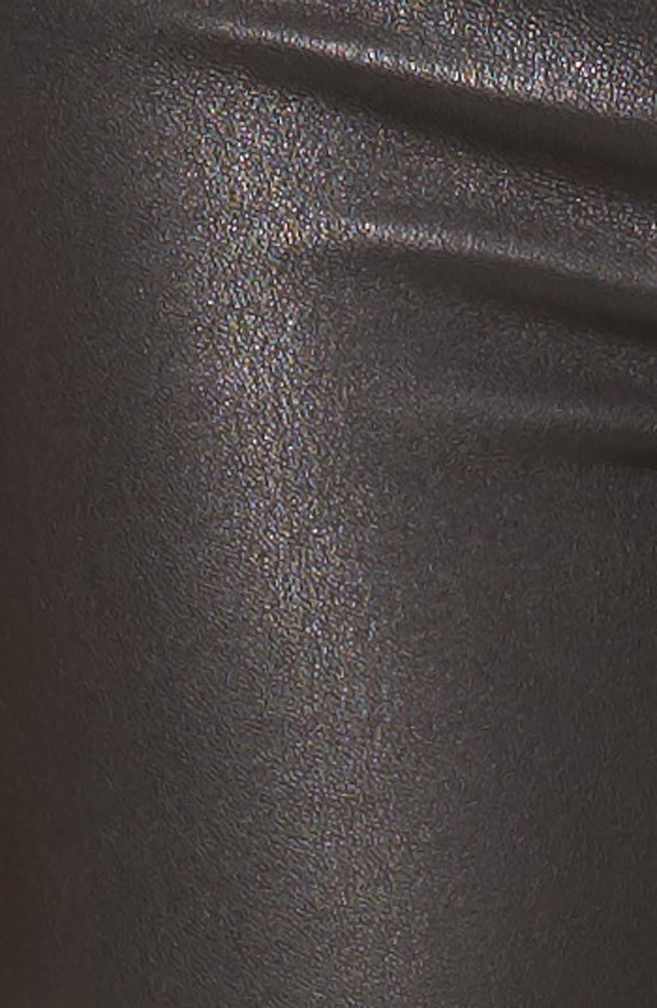 Nix High Waist Leather Skinny Pants,                             Alternate thumbnail 5, color,                             001