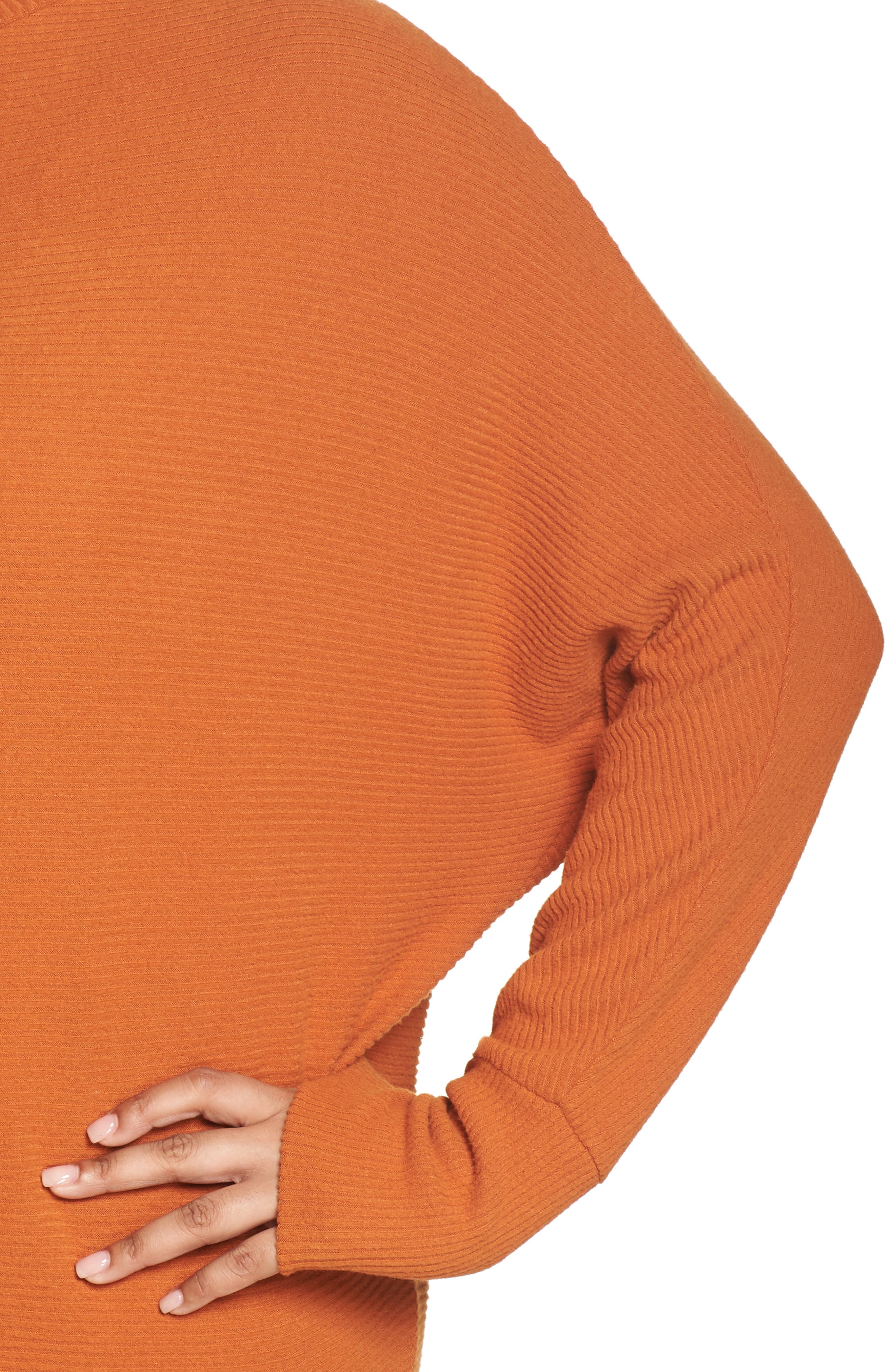 Dolman Sleeve Ribbed Top,                             Alternate thumbnail 10, color,                             RUST CIDER