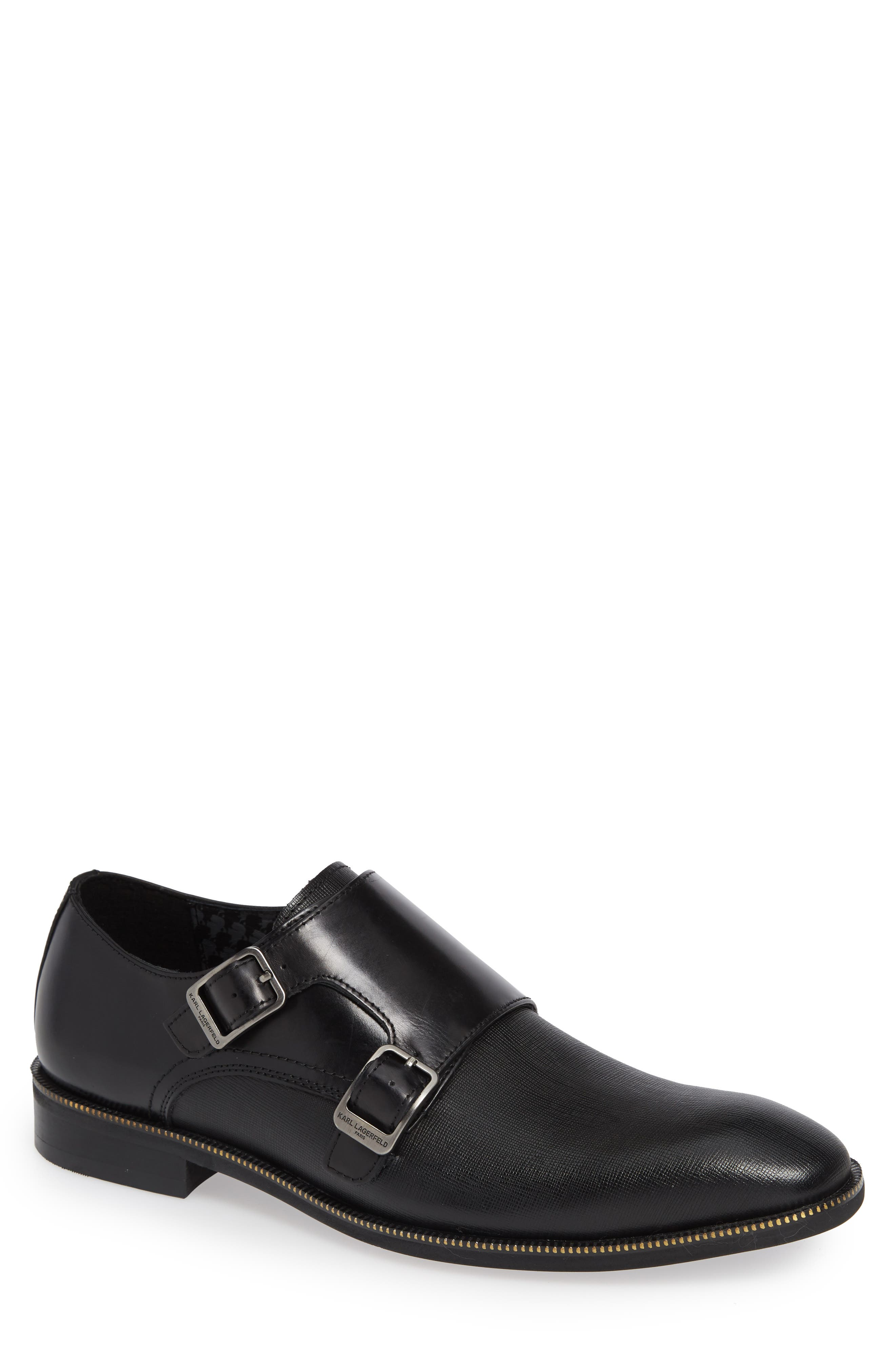 Double Strap Monk Shoe,                         Main,                         color, 001