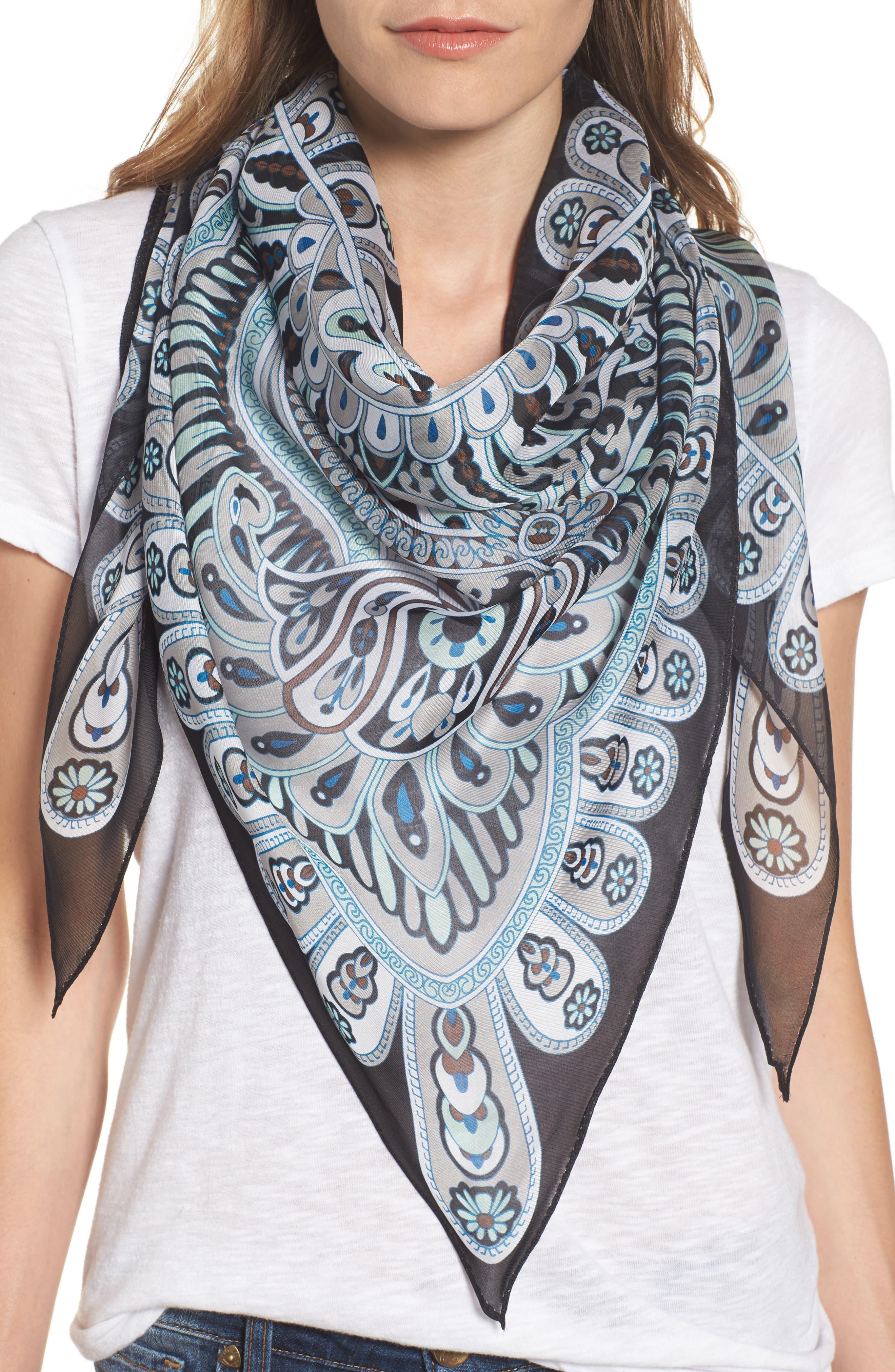 Baracoa Silk Triangle Scarf,                         Main,                         color,