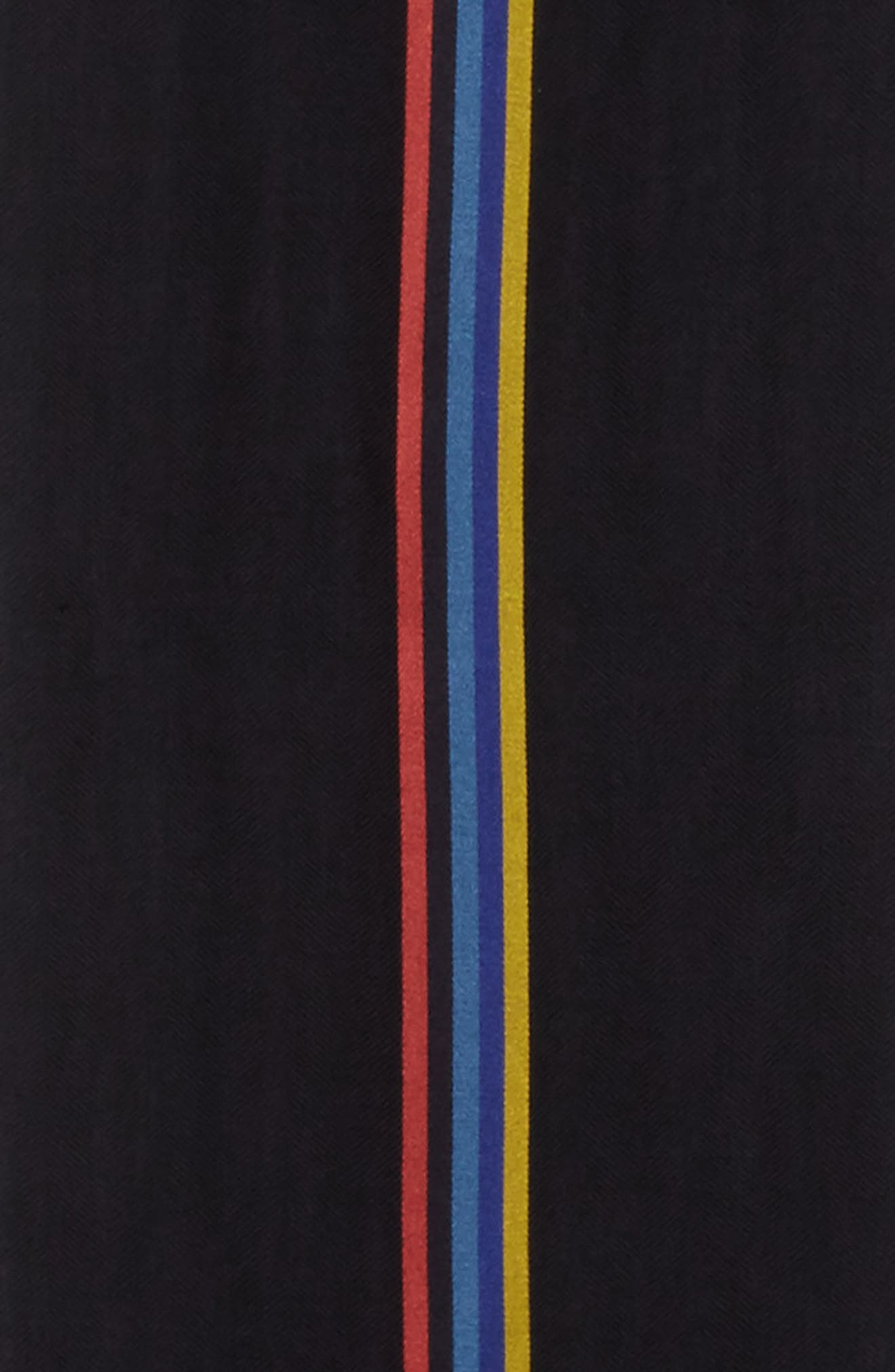 Central Stripe Wool & Silk Scarf,                             Alternate thumbnail 7, color,