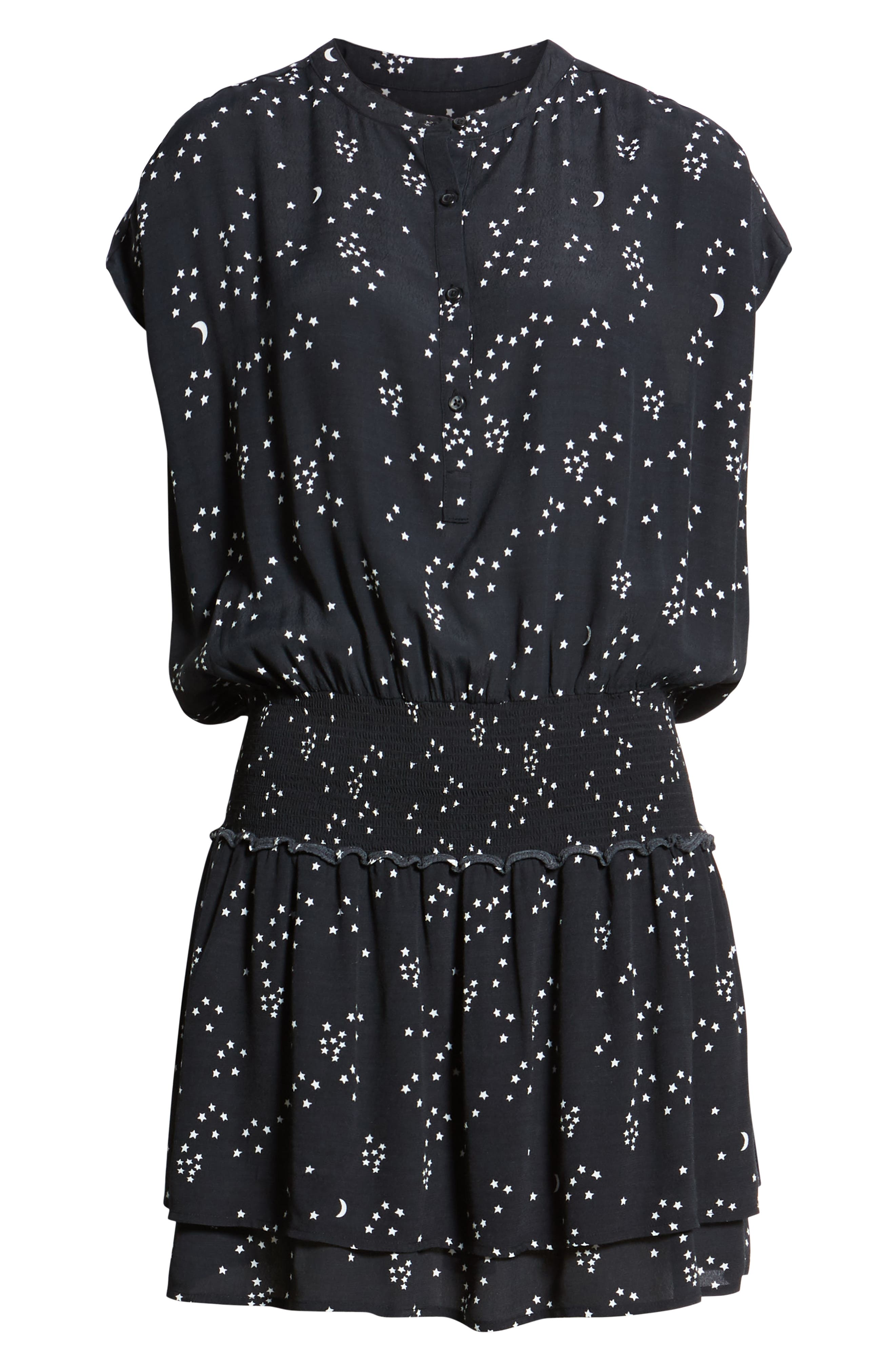 Jolie Moons & Stars Dress,                             Alternate thumbnail 7, color,                             GALAXY
