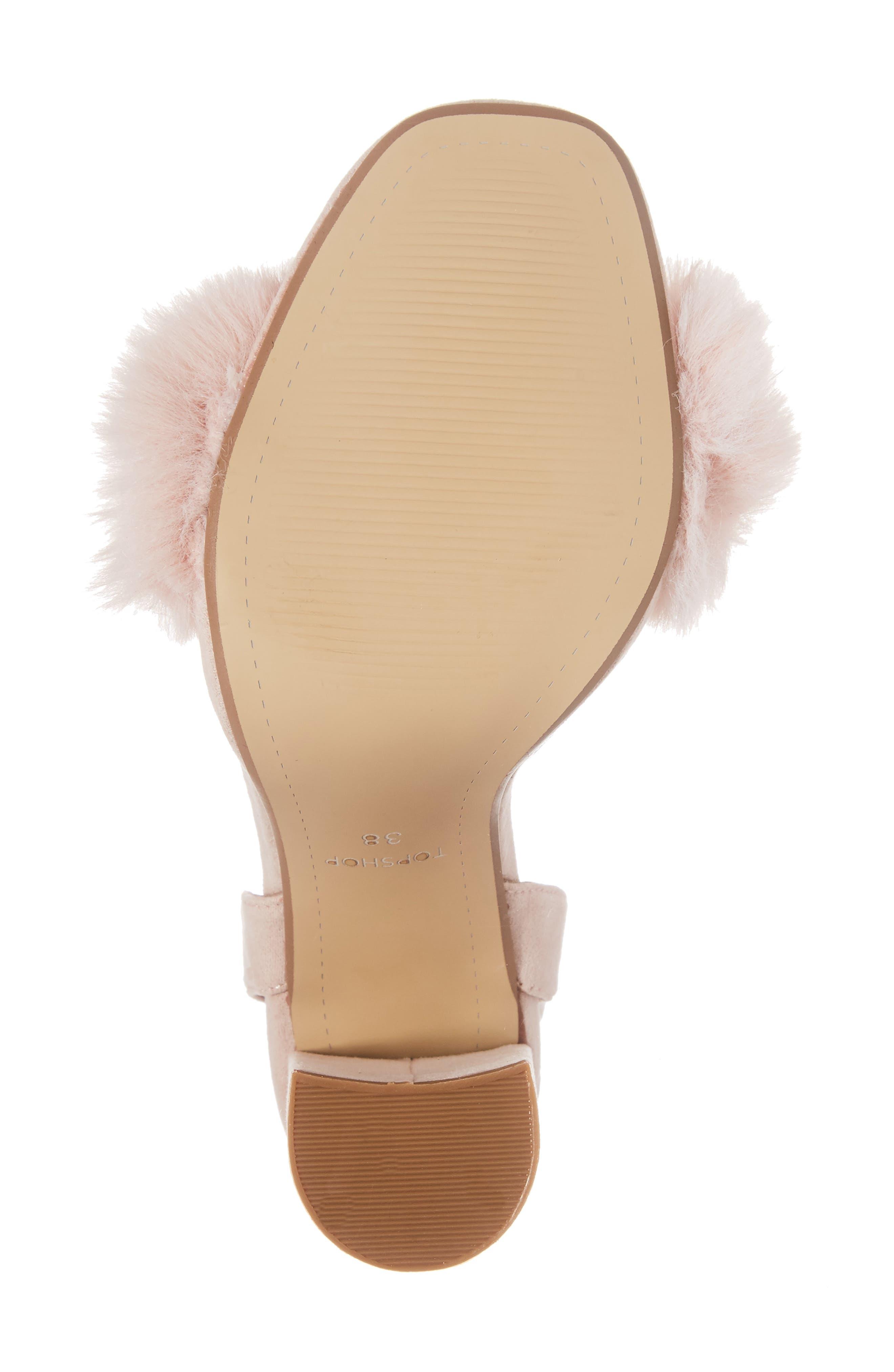 Maison Faux Fur Block Heel Sandal,                             Alternate thumbnail 6, color,                             250