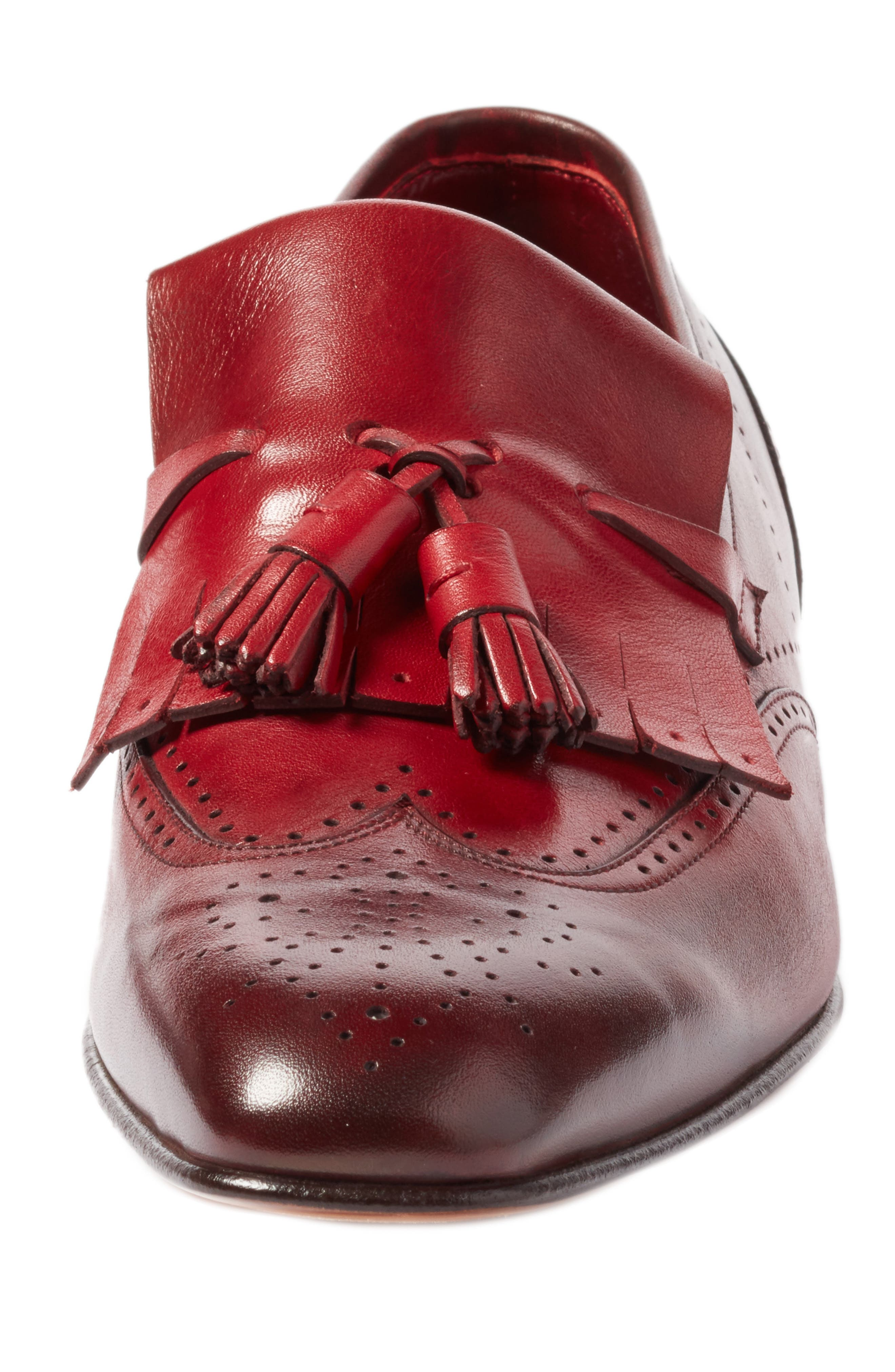 Floyd Tassel Wingtip Loafer,                             Alternate thumbnail 4, color,                             930