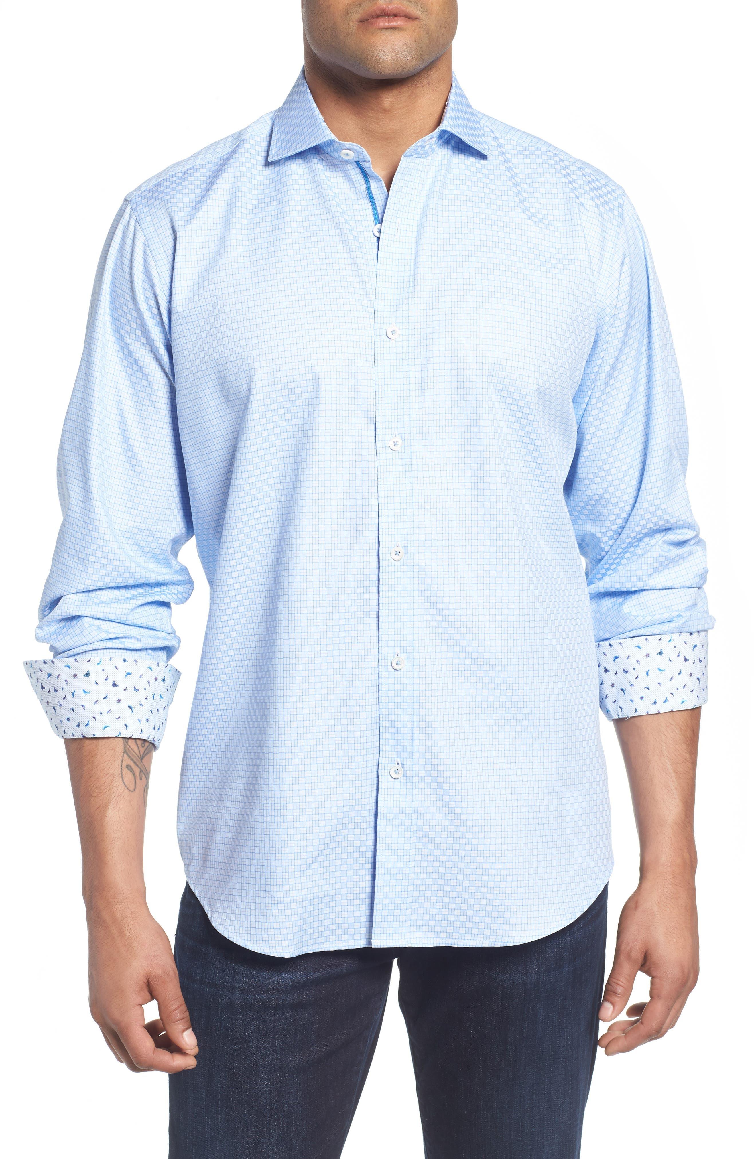 Classic Fit Print Sport Shirt,                         Main,                         color, 422