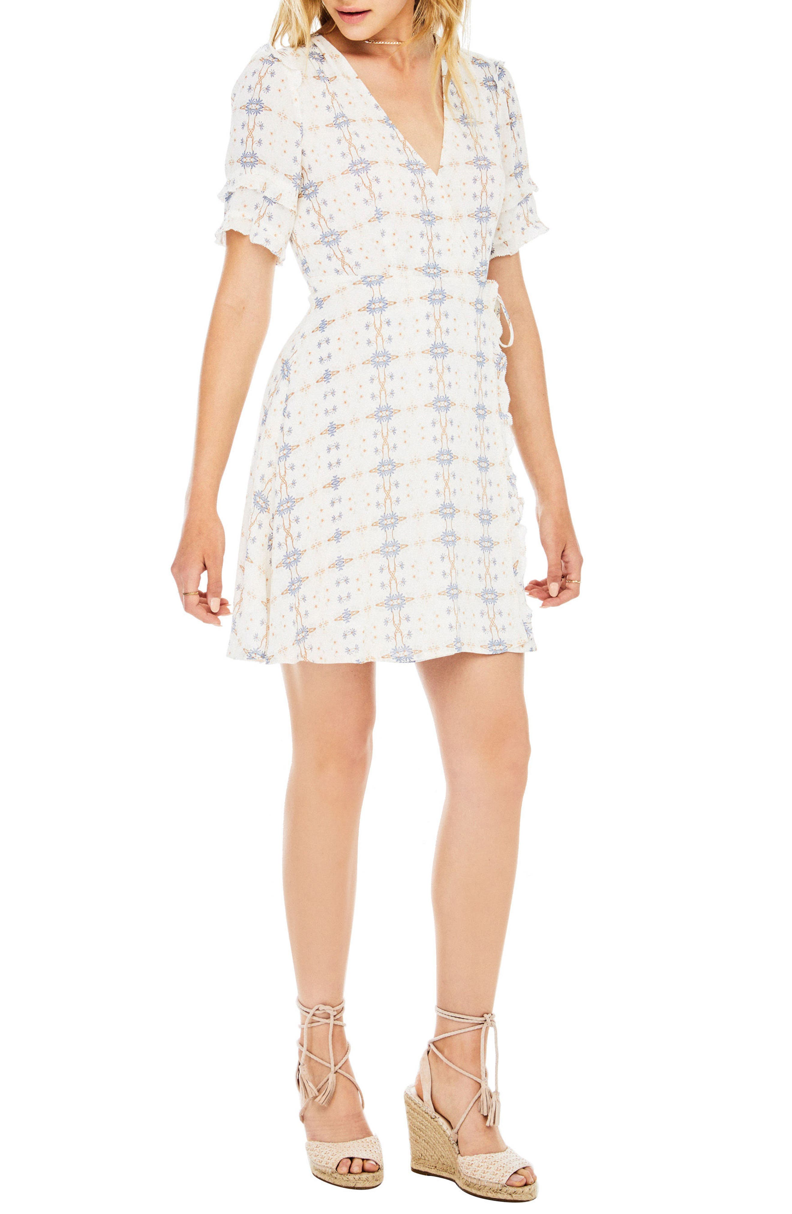 Willa Wrap Dress,                             Alternate thumbnail 3, color,