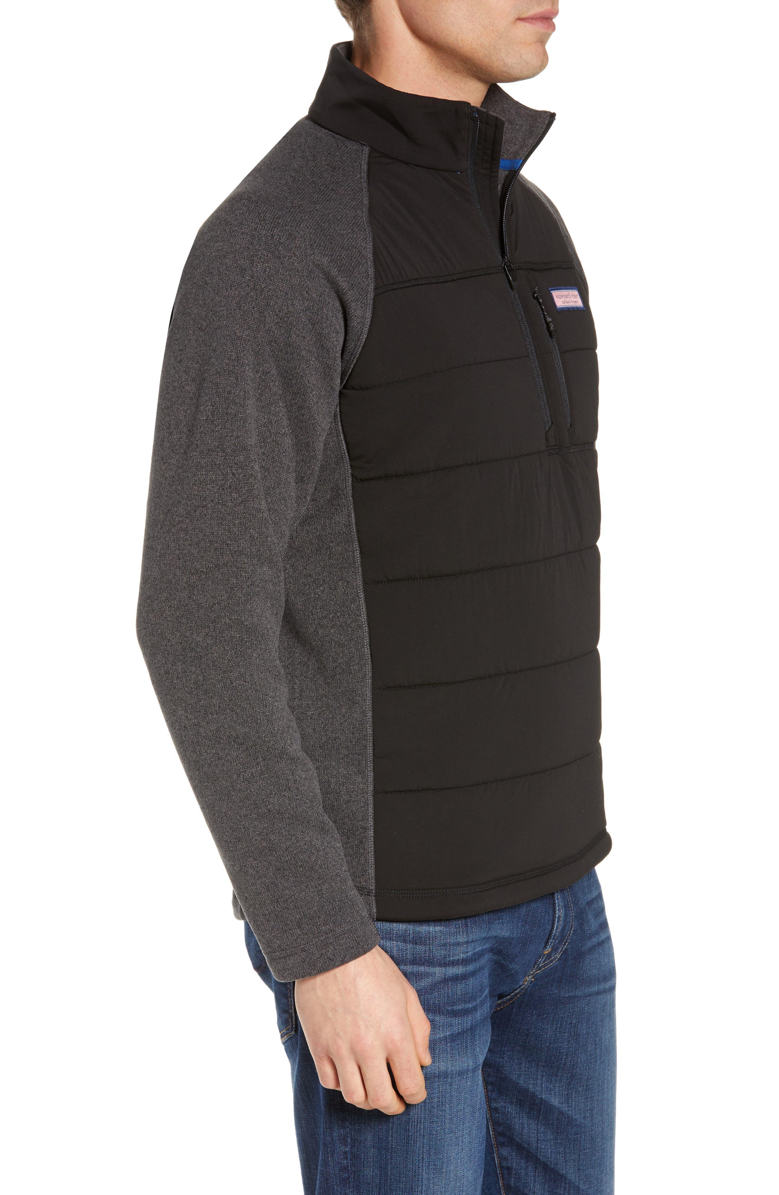 Seaward Fleece Half Zip Pullover,                             Alternate thumbnail 3, color,                             NOCTURNE