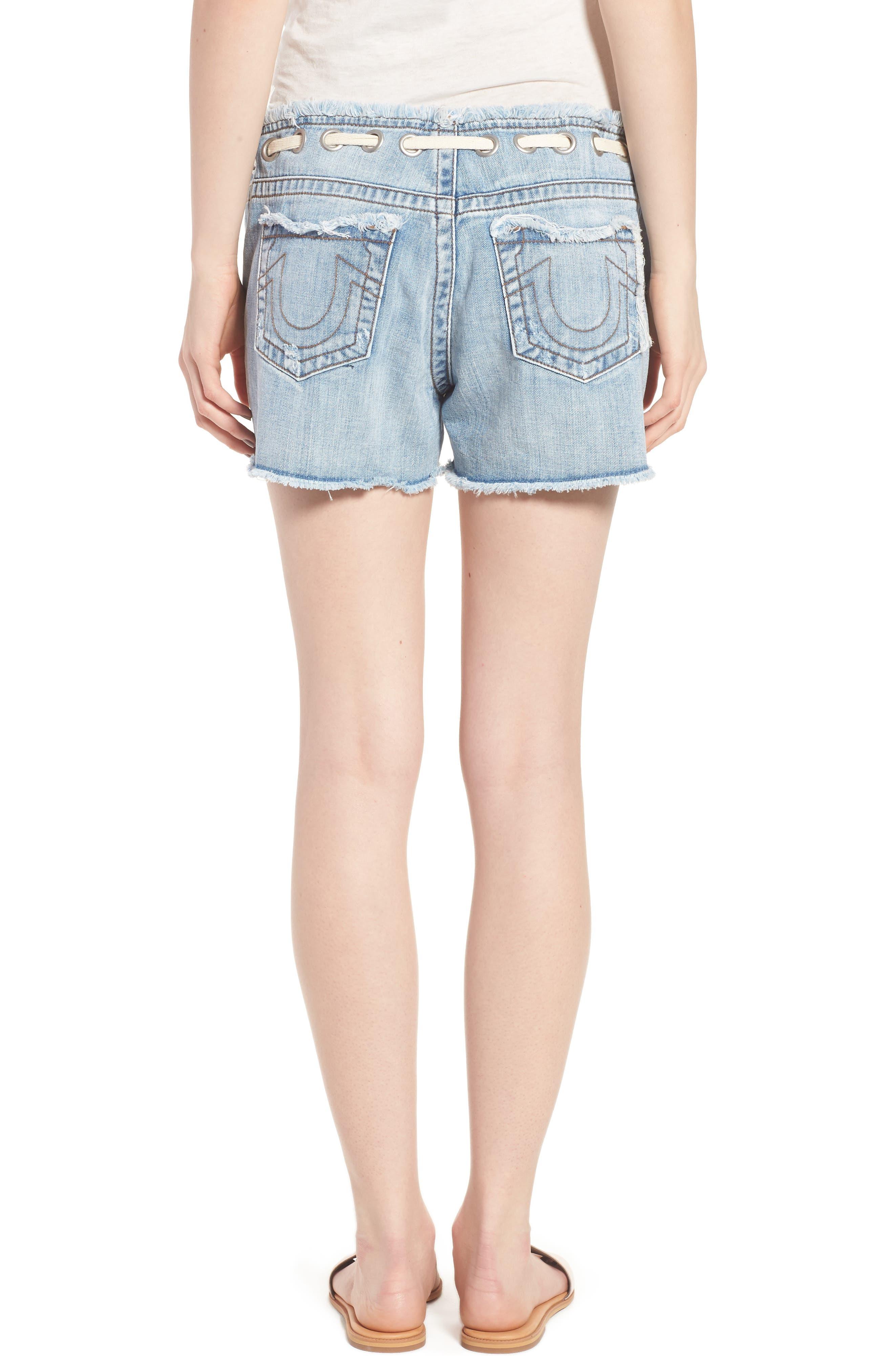 Fashion Distressed Denim Shorts,                             Alternate thumbnail 2, color,                             401