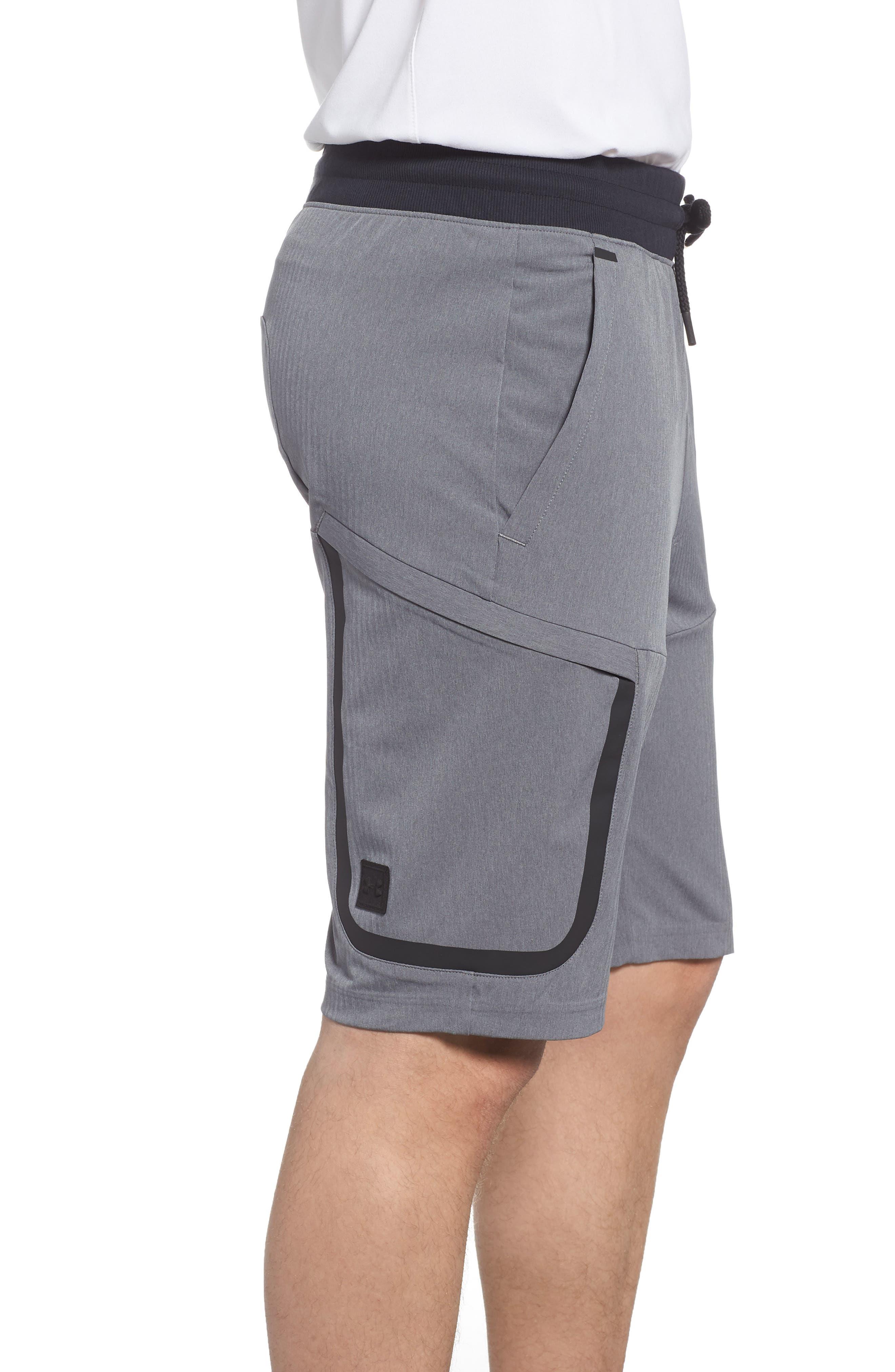 Sportstyle Elite Cargo Shorts,                             Alternate thumbnail 3, color,                             STEEL FULL HEATHER / / BLACK