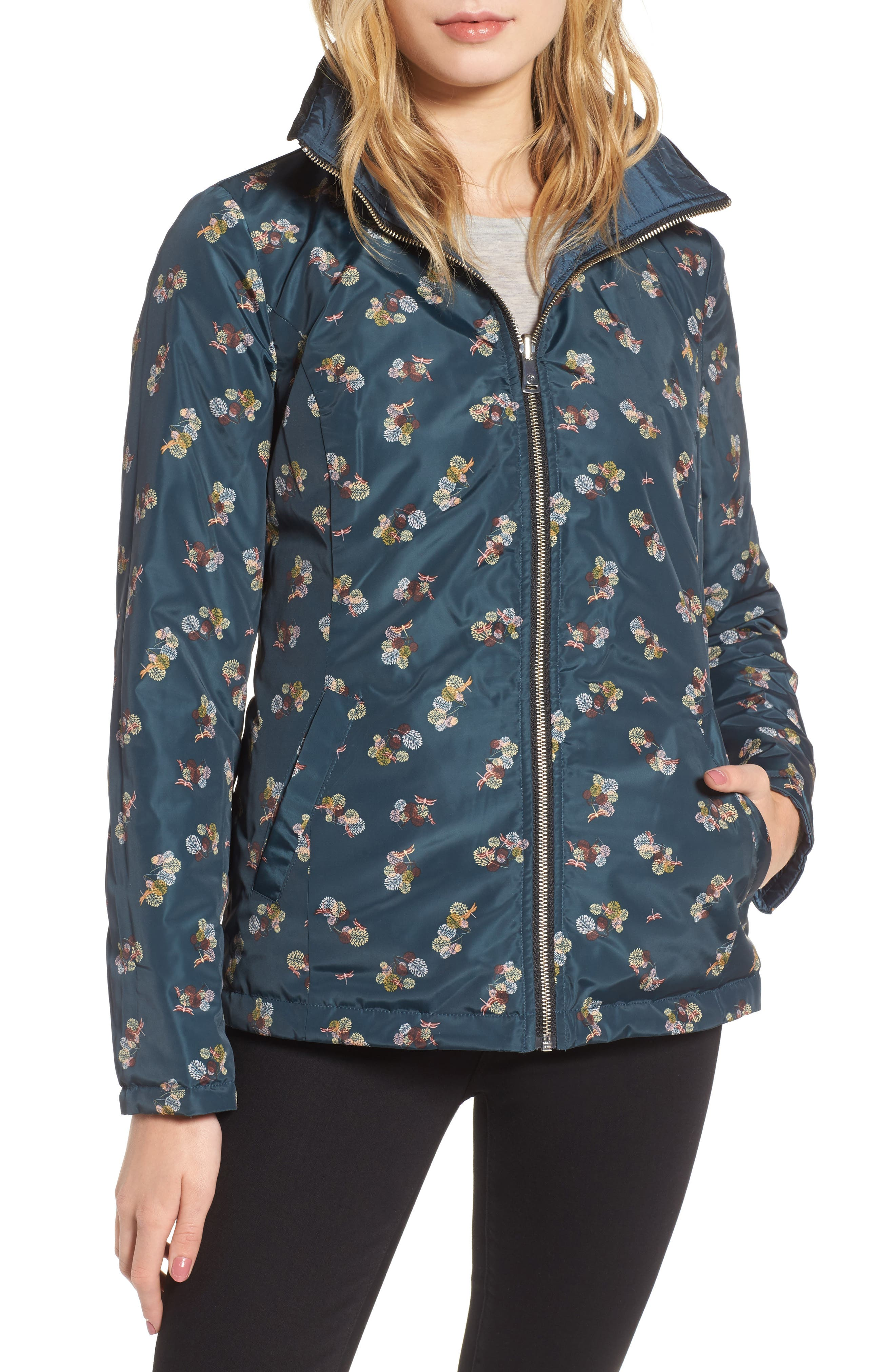 Reversible Insulated Quilted Jacket,                             Alternate thumbnail 4, color,
