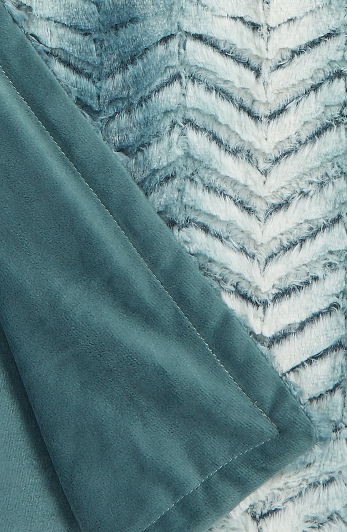 Nordstrom Chevron Plush Faux Fur Throw,                             Alternate thumbnail 7, color,