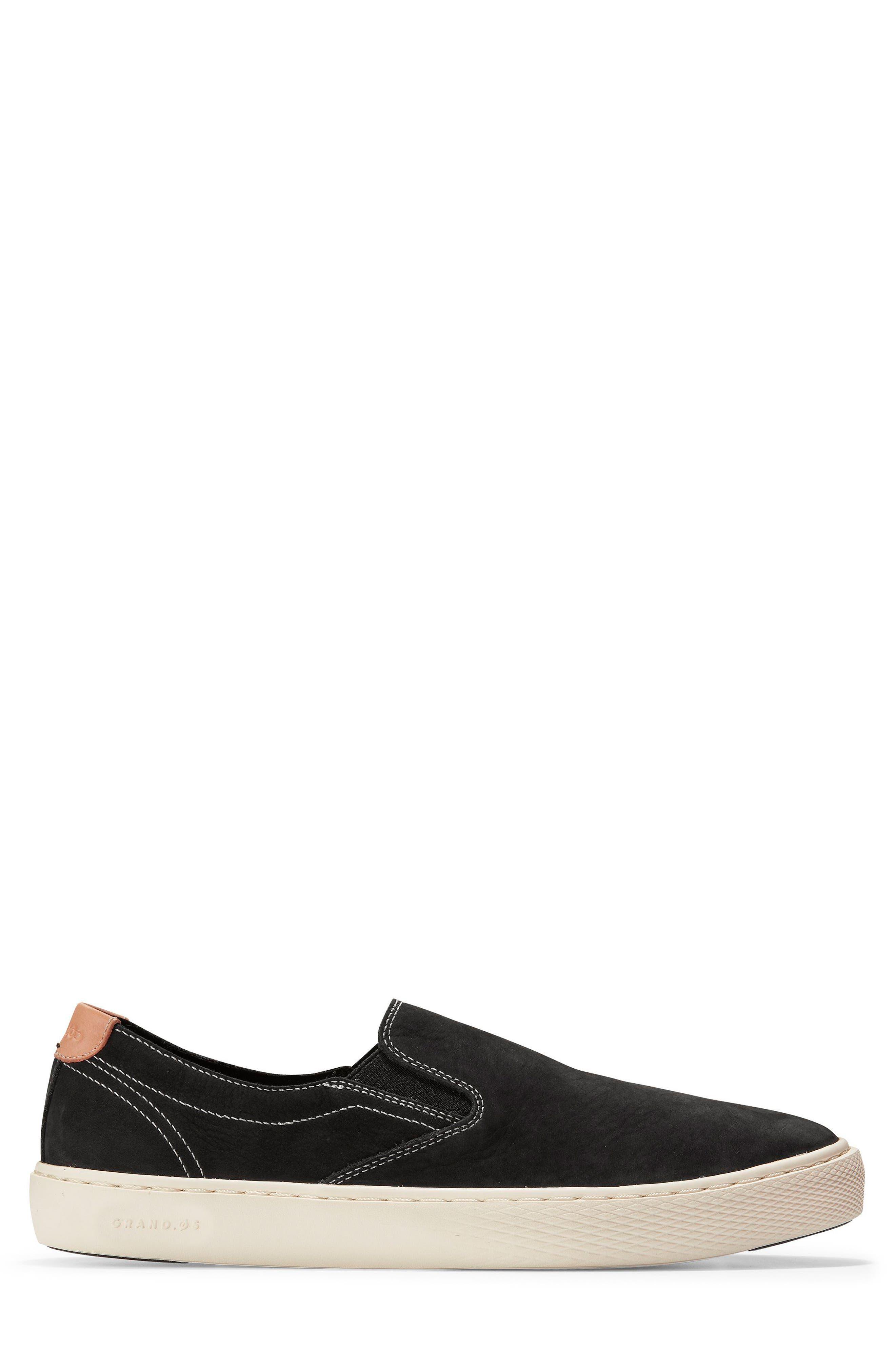 GrandPrø Deck Slip-On Sneaker,                             Alternate thumbnail 3, color,                             BLACK NUBUCK