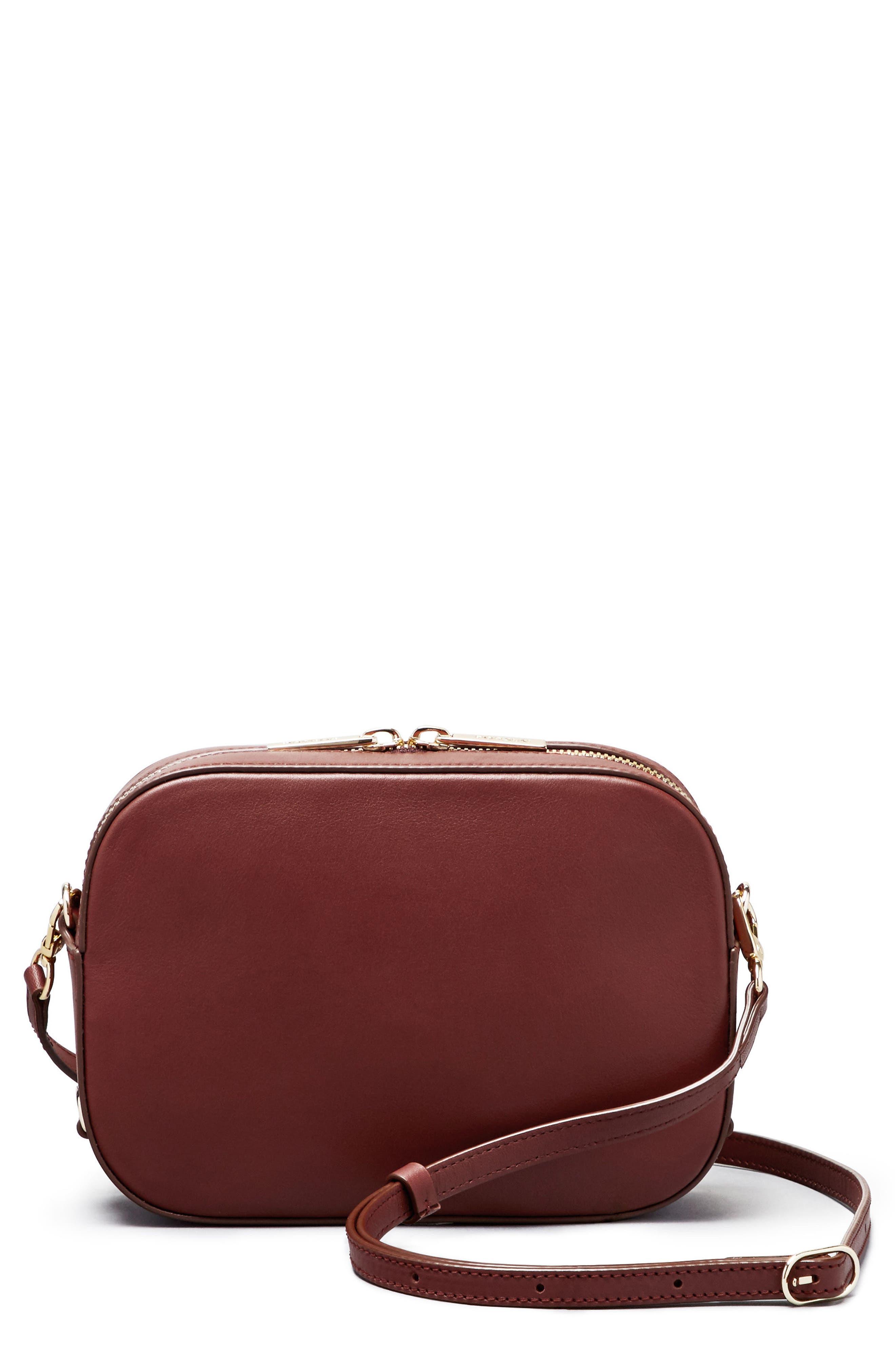 Bigger Leather Camera Bag,                             Main thumbnail 8, color,