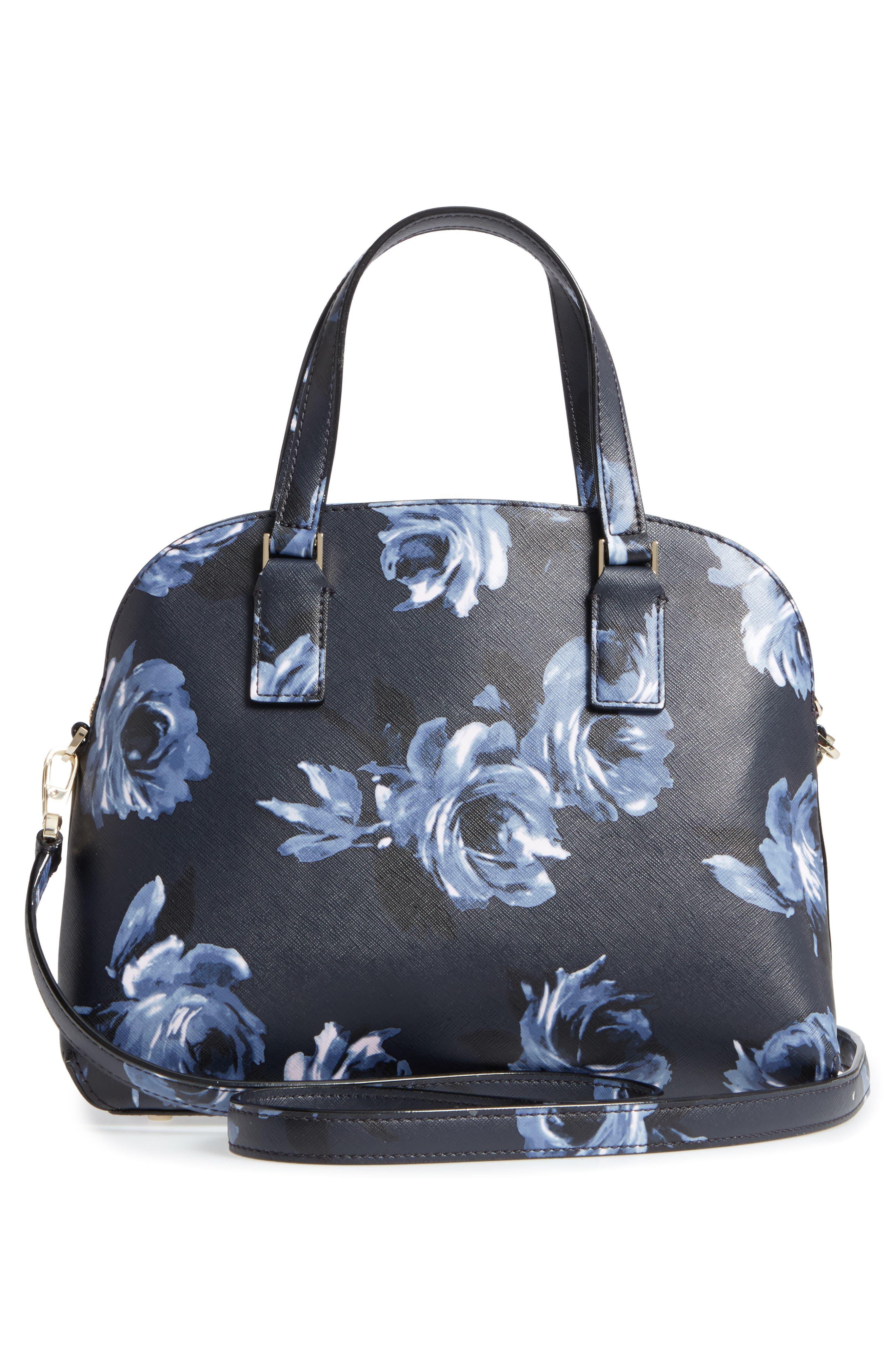 cameron street lottie floral faux leather satchel,                             Alternate thumbnail 3, color,                             458