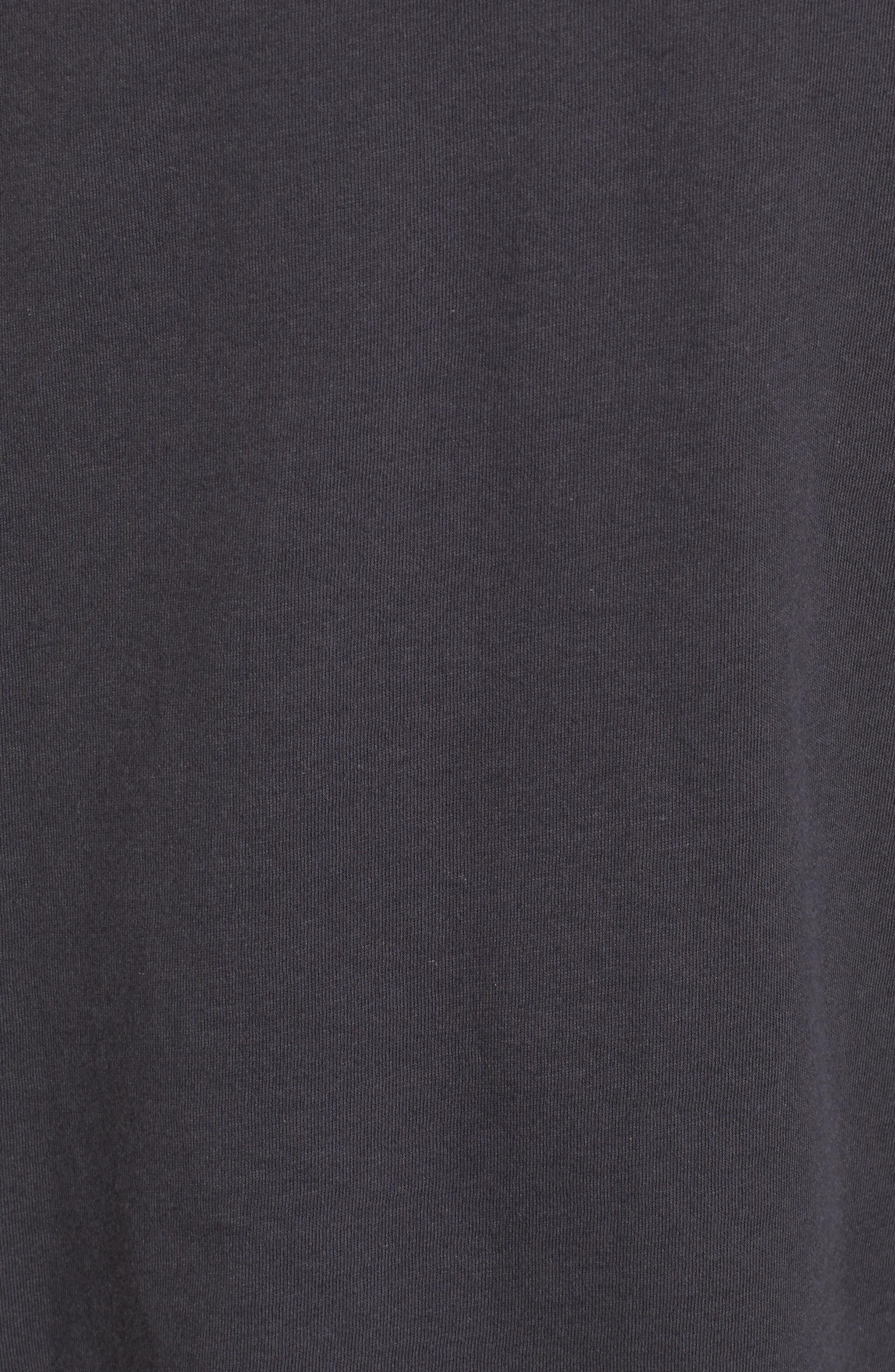 Long Sleeve V Neck Pocket Tee,                             Alternate thumbnail 5, color,                             020