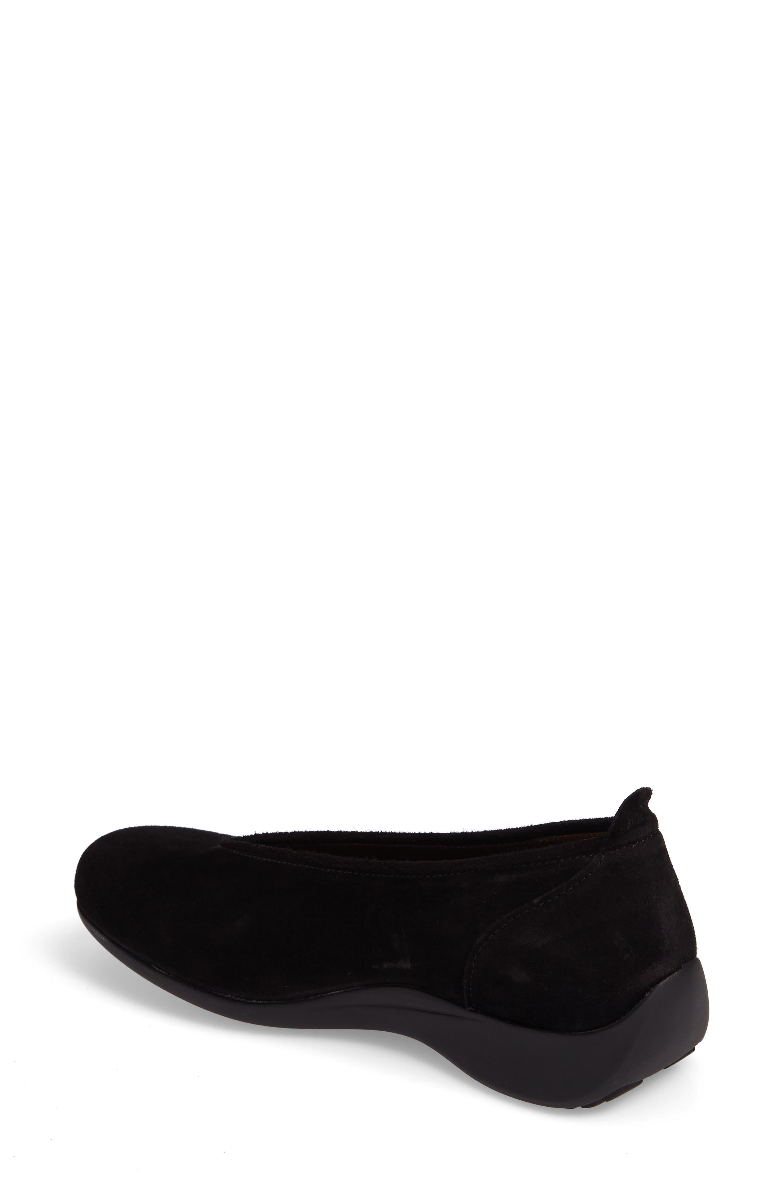 Ballet Flat,                             Alternate thumbnail 2, color,                             BLACK SUEDE