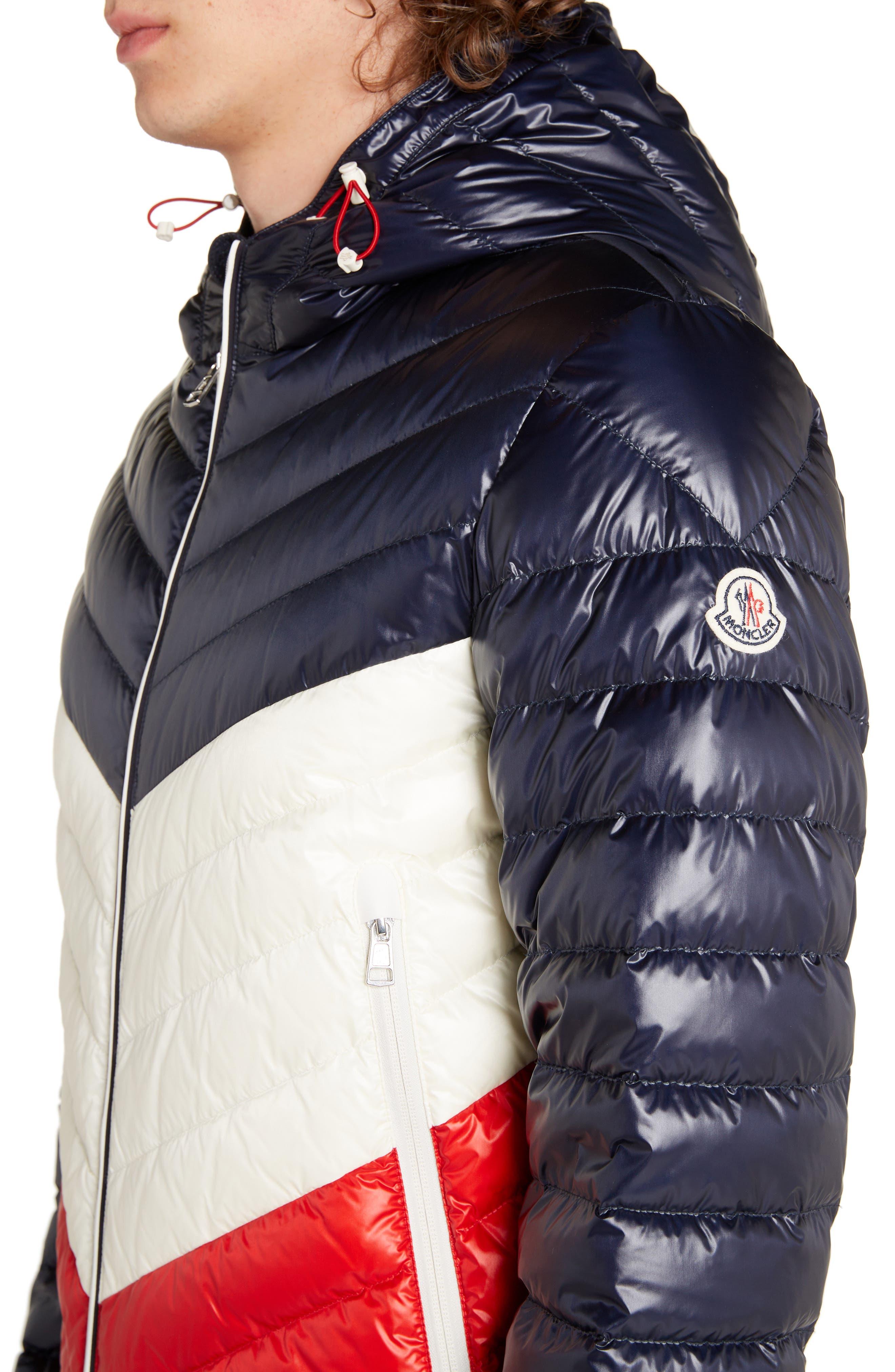 Palliser Colorblock Hooded Jacket,                             Alternate thumbnail 4, color,                             BLUE
