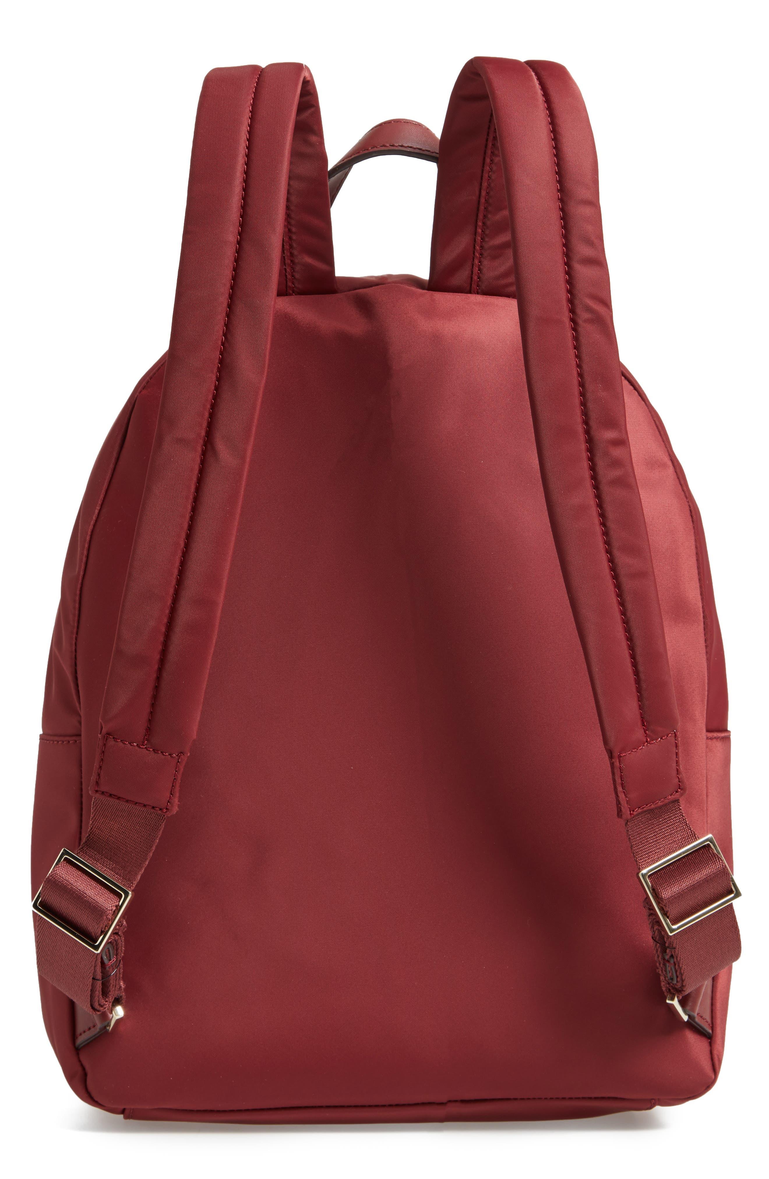 watson lane - hartley nylon backpack,                             Alternate thumbnail 3, color,                             DARK CURRANT