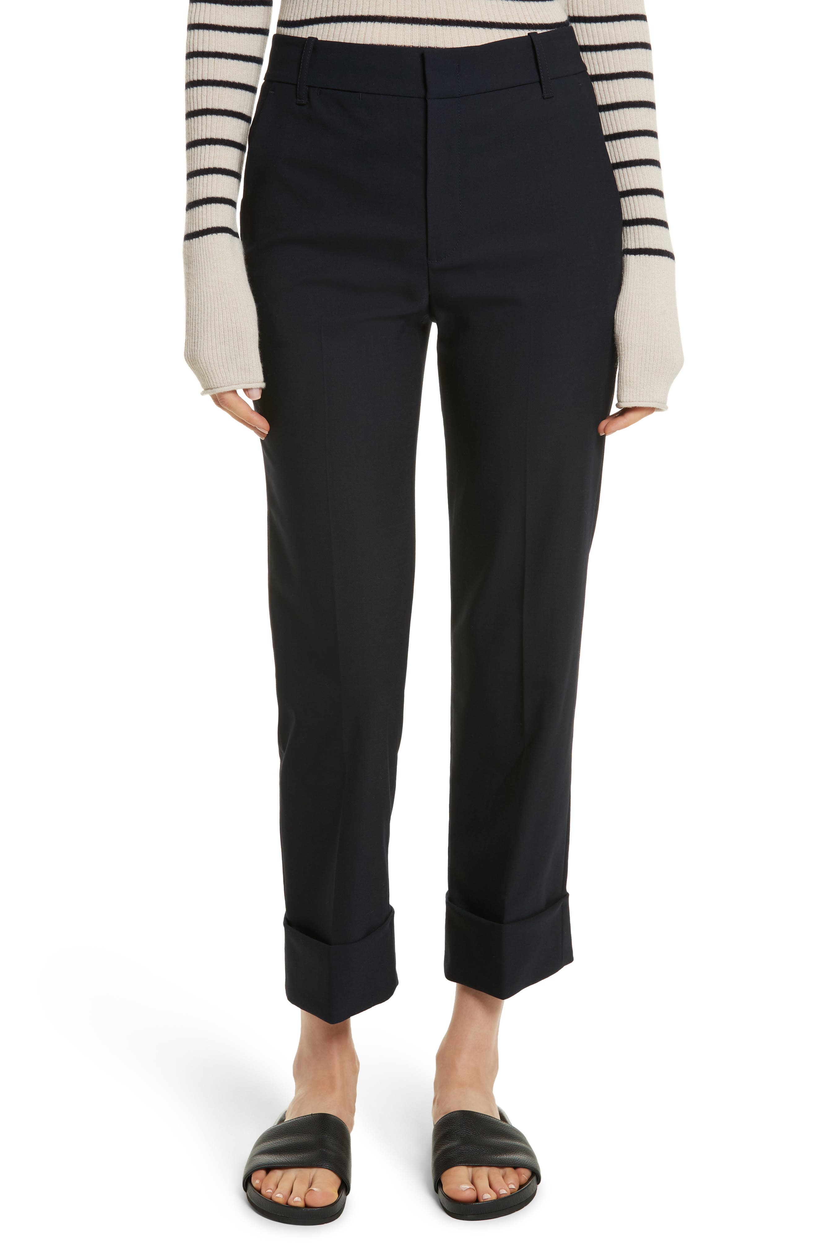 Cuffed Coin Pocket Trousers,                             Main thumbnail 2, color,