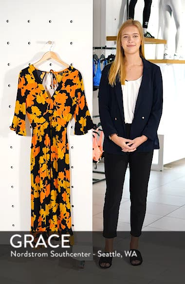 Bold Floral Midi Dress, sales video thumbnail