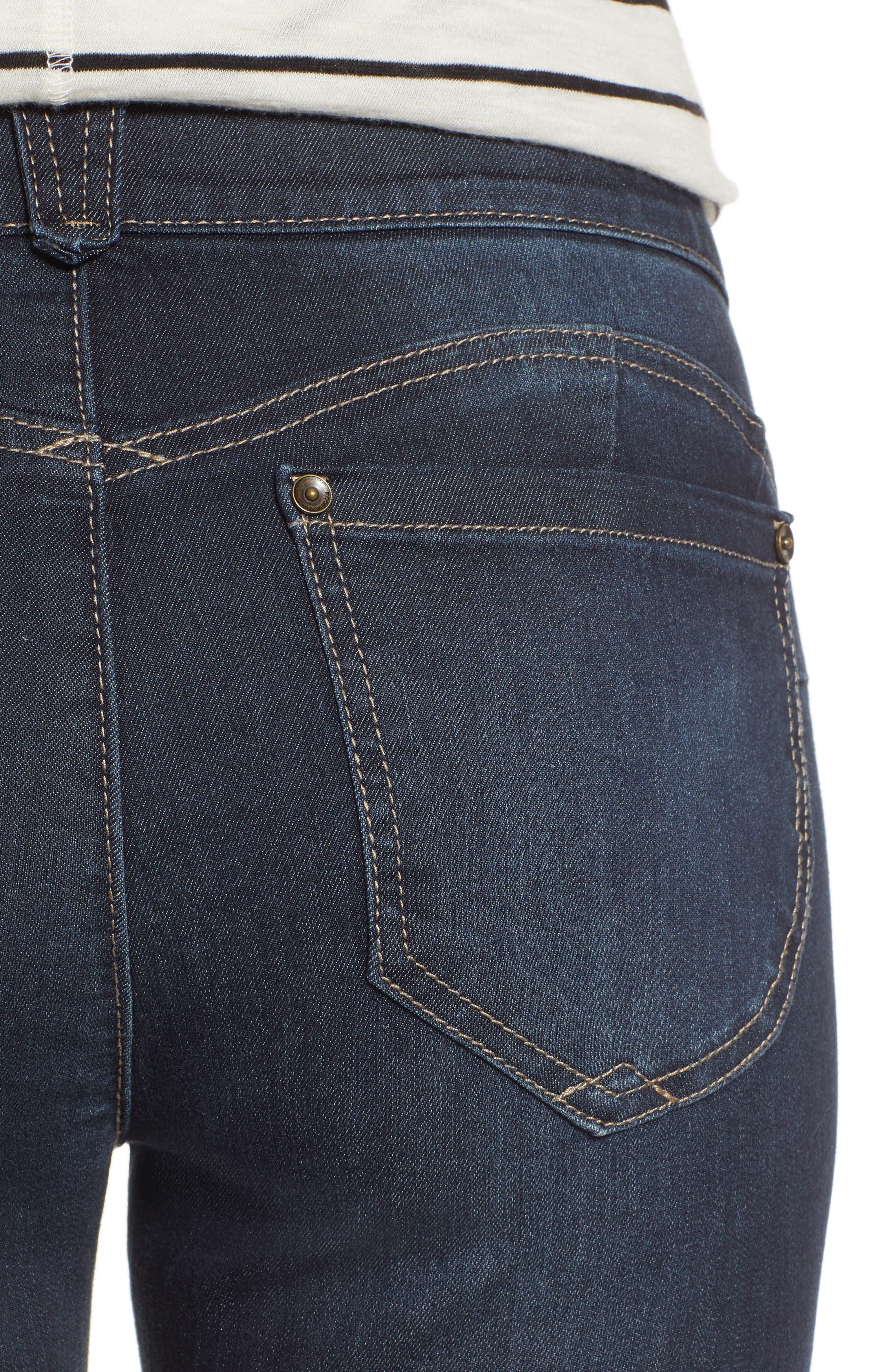 Ab-Solution Ankle Skimmer Jeans,                             Alternate thumbnail 4, color,                             INDIGO