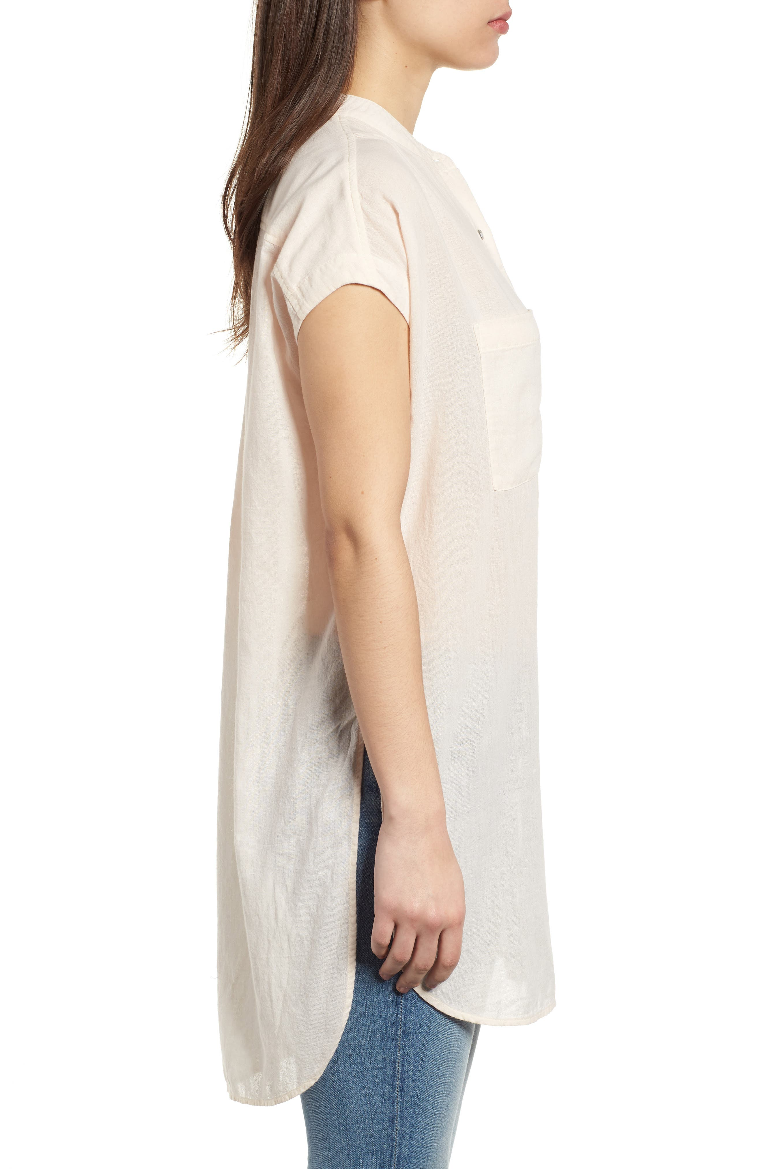 Button Front Longline Top,                             Alternate thumbnail 20, color,
