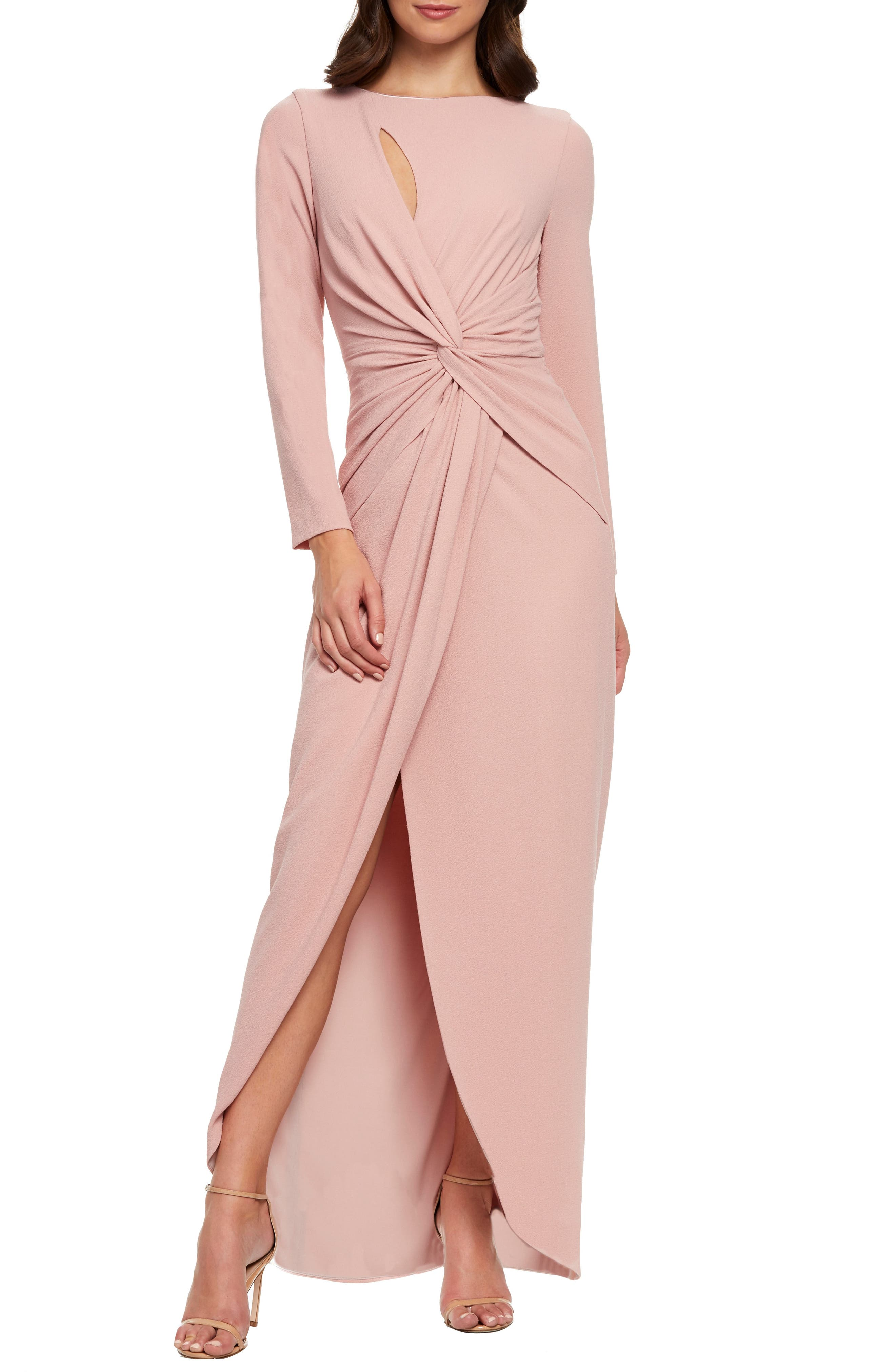 Dress The Population Naomi Twisted Gown, Pink